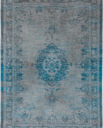 rugs Louis De Poortere LX8255 Fading World Medaillon Grey Turquoise