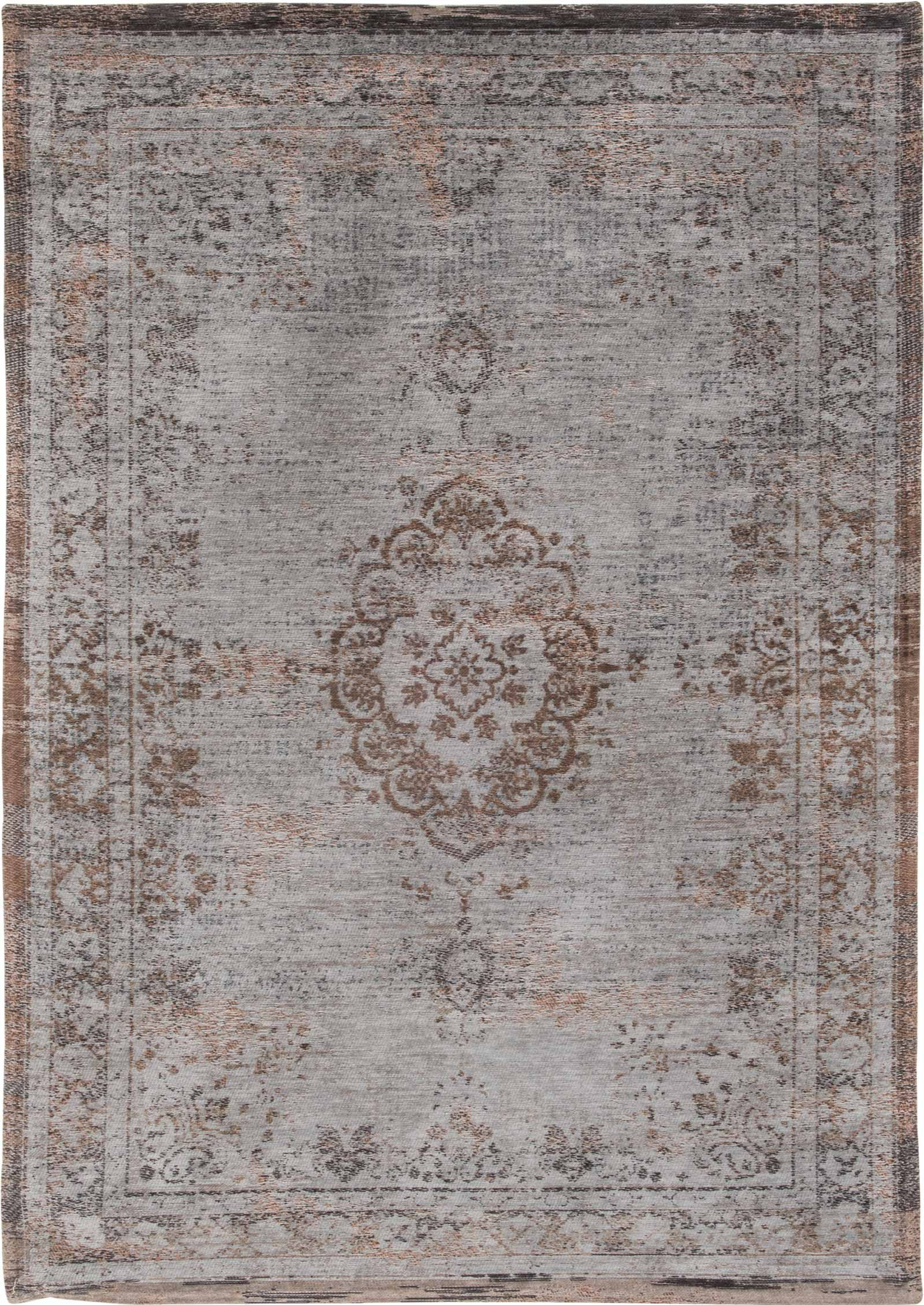 rugs Louis De Poortere LX8257 Fading World Medaillon Grey Ebony