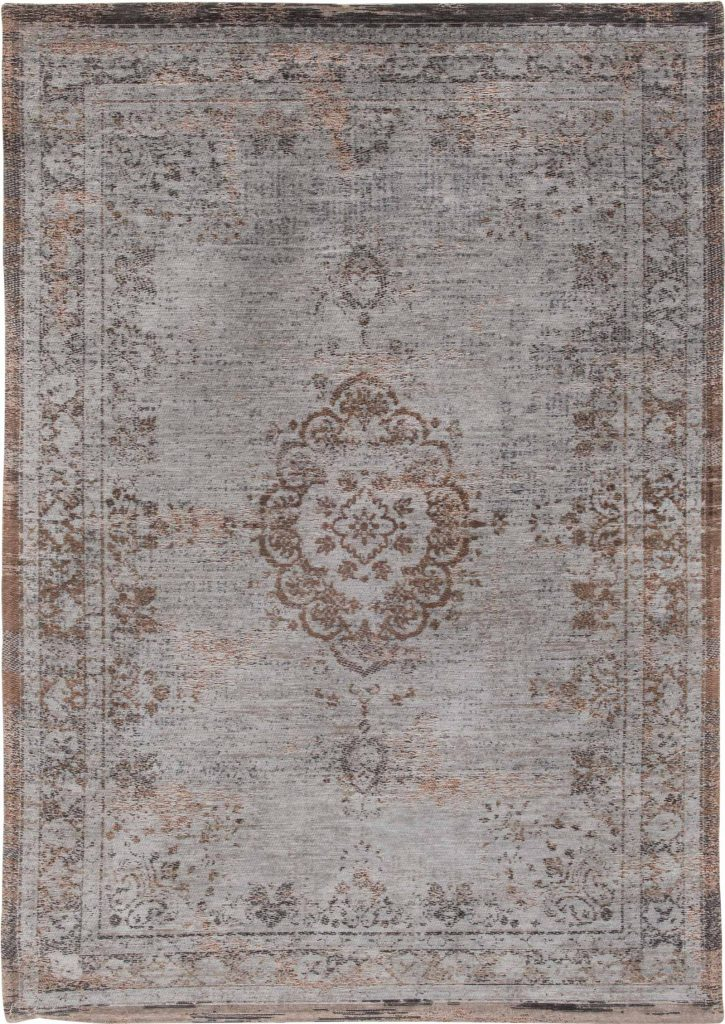 Louis De Poortere Rug Fading World Grey Ebony 8257