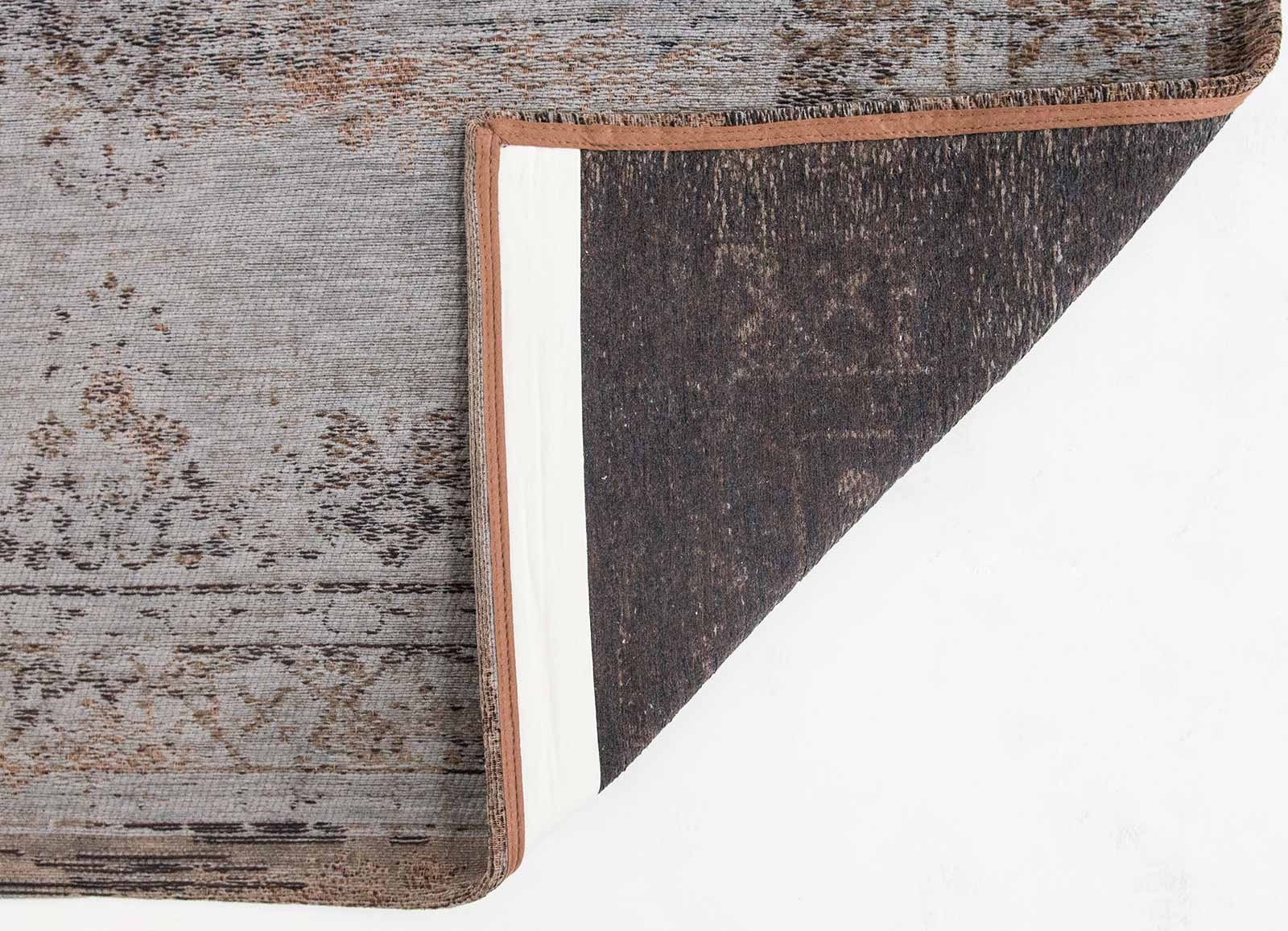 rugs Louis De Poortere LX8257 Fading World Medaillon Grey Ebony back