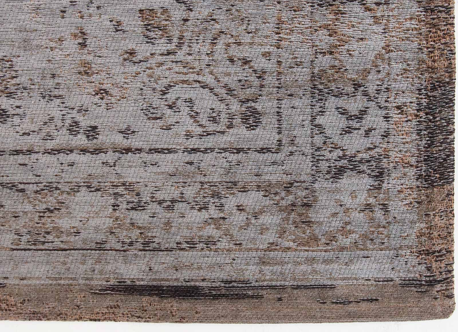rugs Louis De Poortere LX8257 Fading World Medaillon Grey Ebony corner