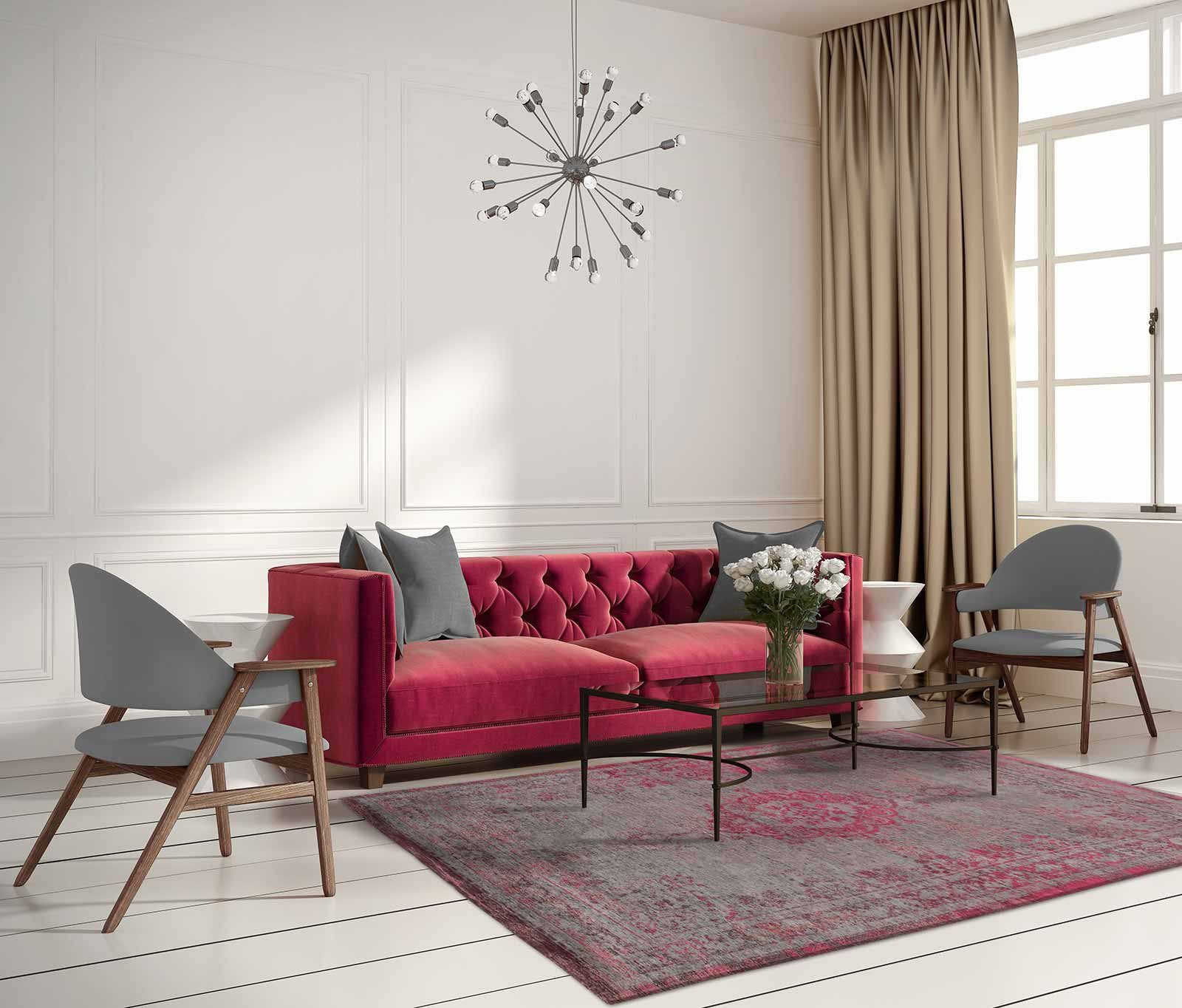 rug Louis De Poortere LX8261 Fading World Medaillon Pink Flash interior