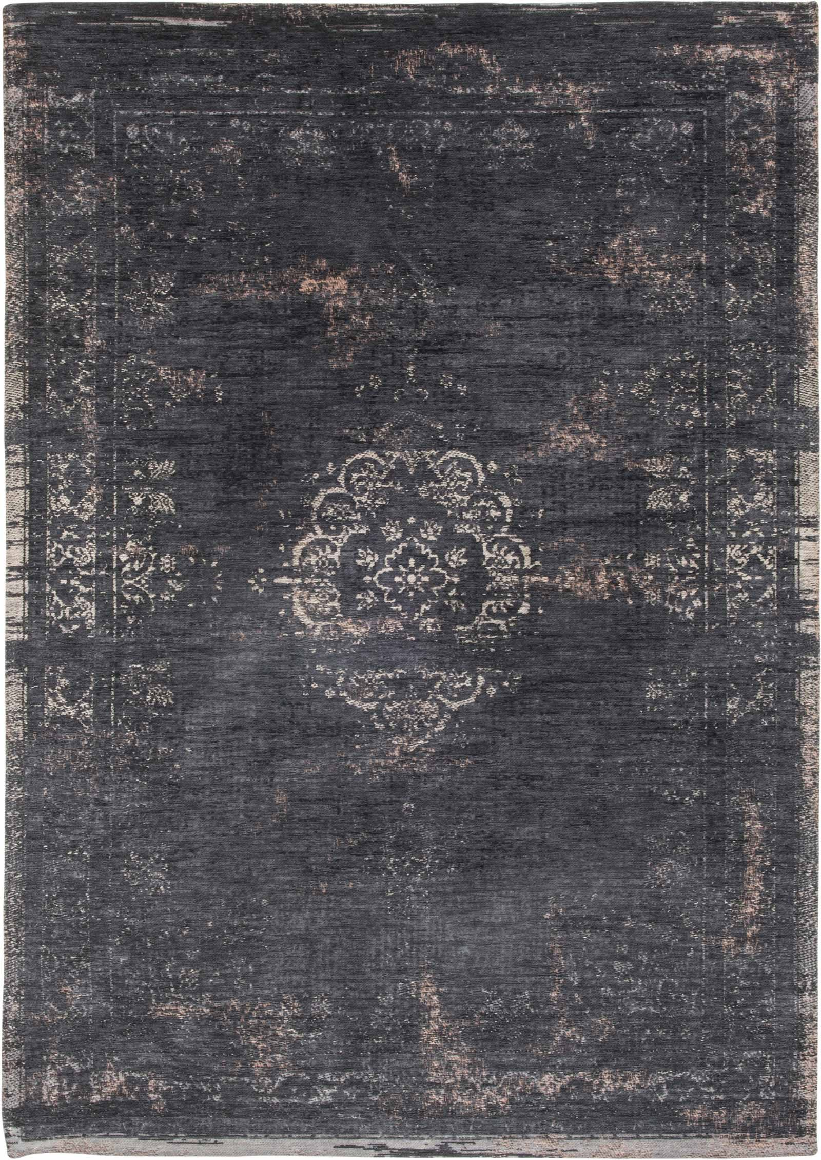 rug Louis De Poortere LX8263 Fading World Medaillon Mineral Black