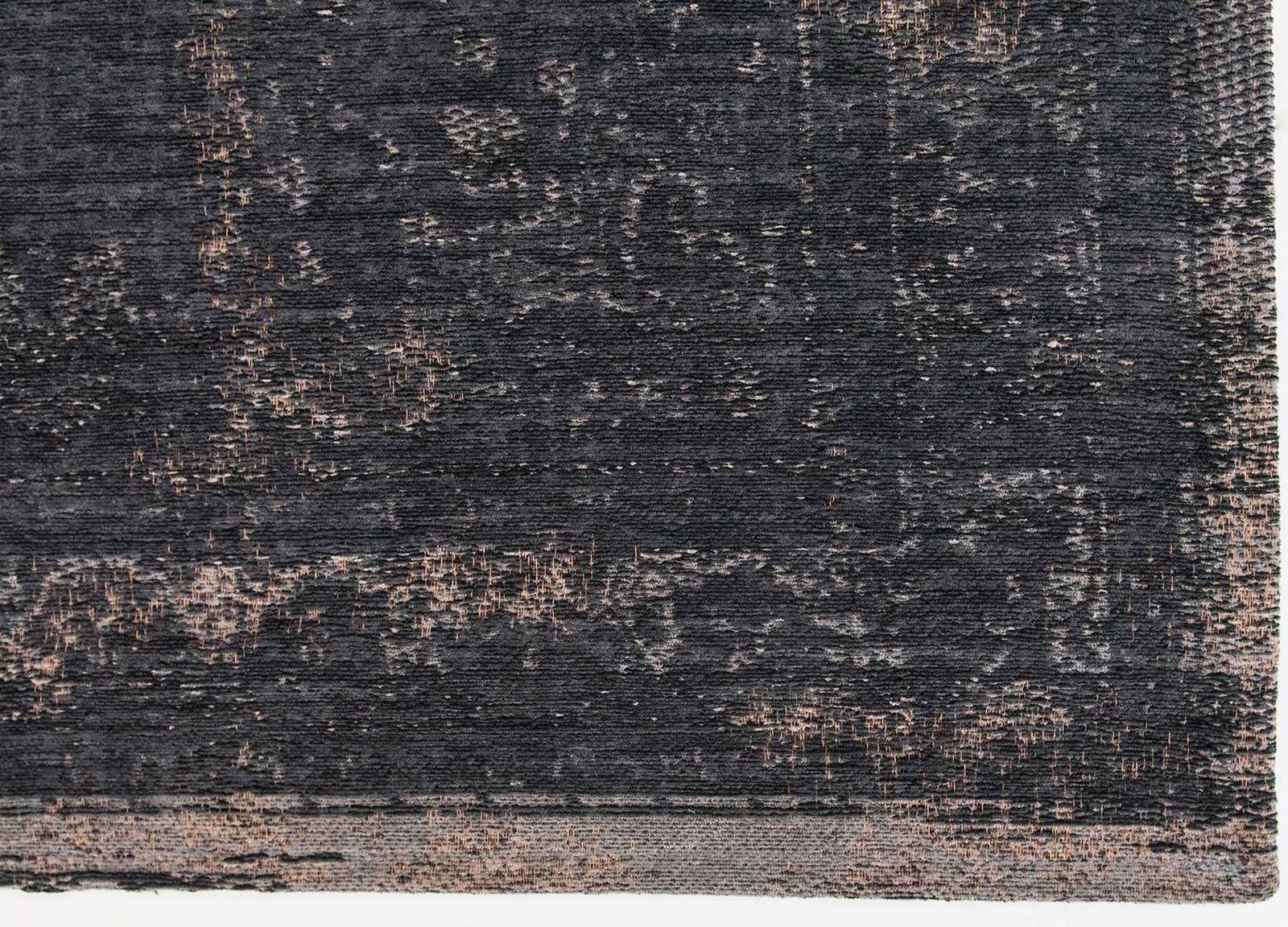 rug Louis De Poortere LX8263 Fading World Medaillon Mineral Black corner