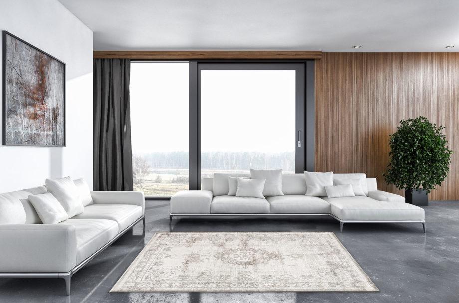 rugs Louis De Poortere LX8383 Fading World Medaillon Salt Pepper interior