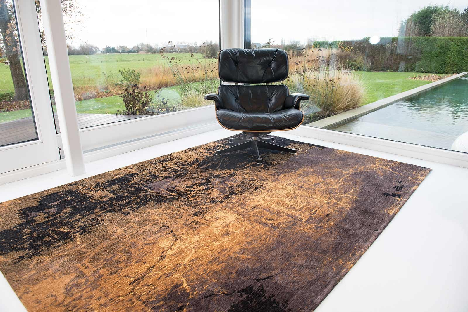 rugs Louis De Poortere LX8618 Mad Men Cracks Deep Mine interior