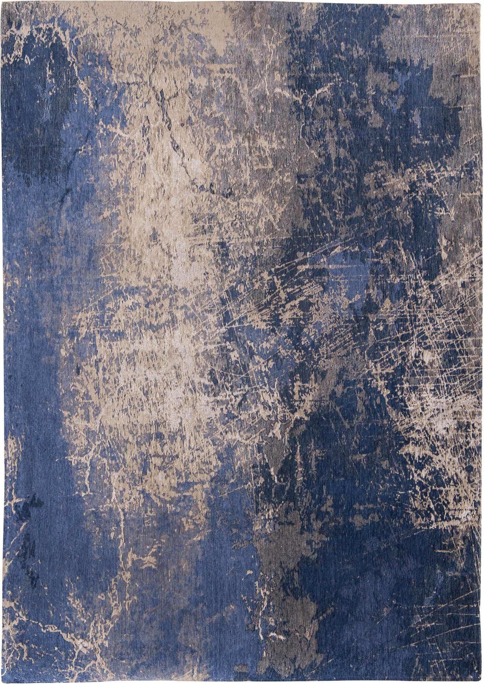 rugs Louis De Poortere LX8629 Mad Men Cracks Abyss Blue