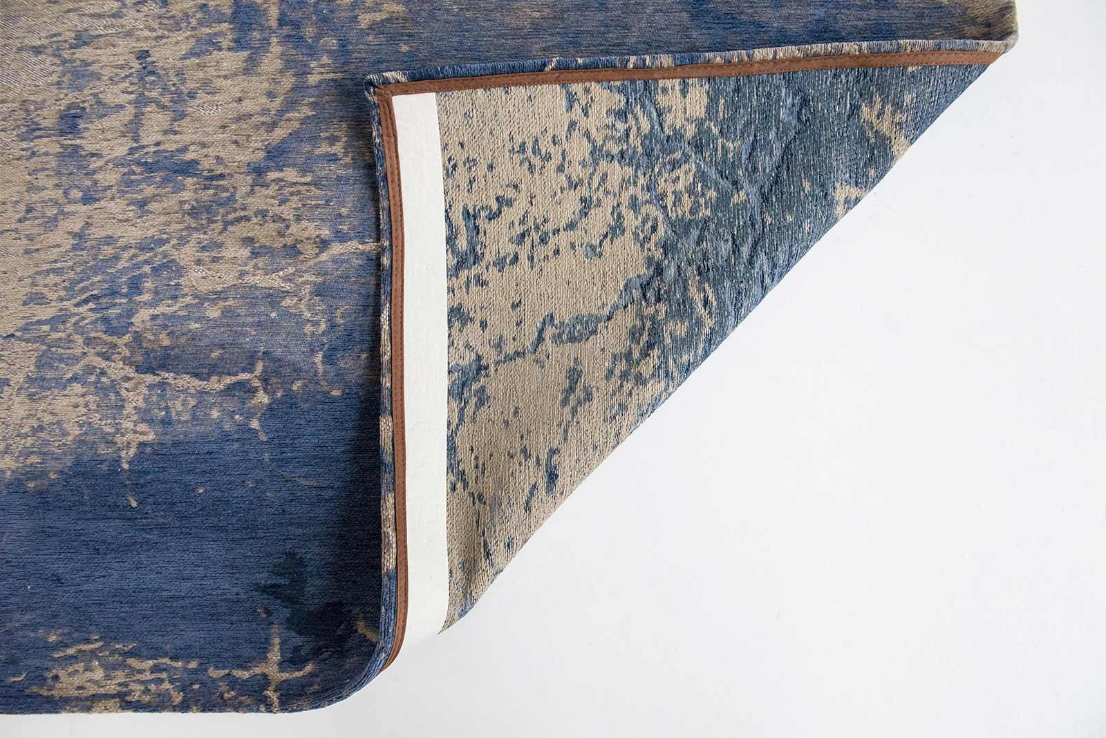 rugs Louis De Poortere LX8629 Mad Men Cracks Abyss Blue back