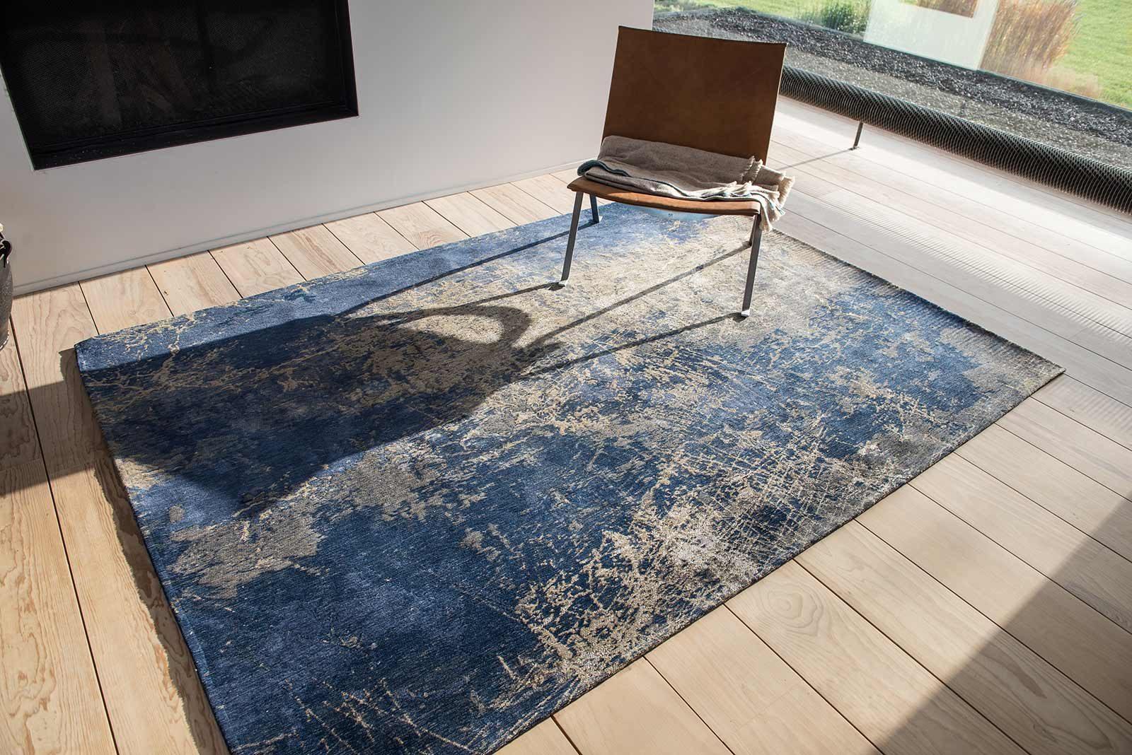 rugs Louis De Poortere LX8629 Mad Men Cracks Abyss Blue interior 2
