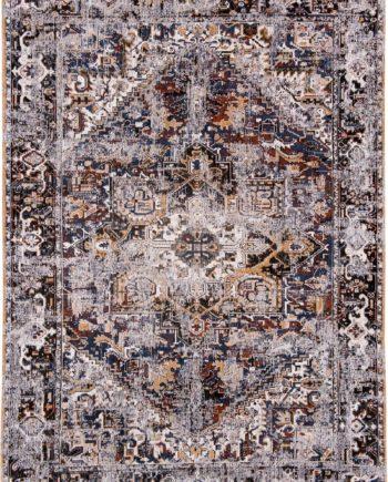 rugs Louis De Poortere LX8707 Antiquarian Antique Heriz Divan Blue