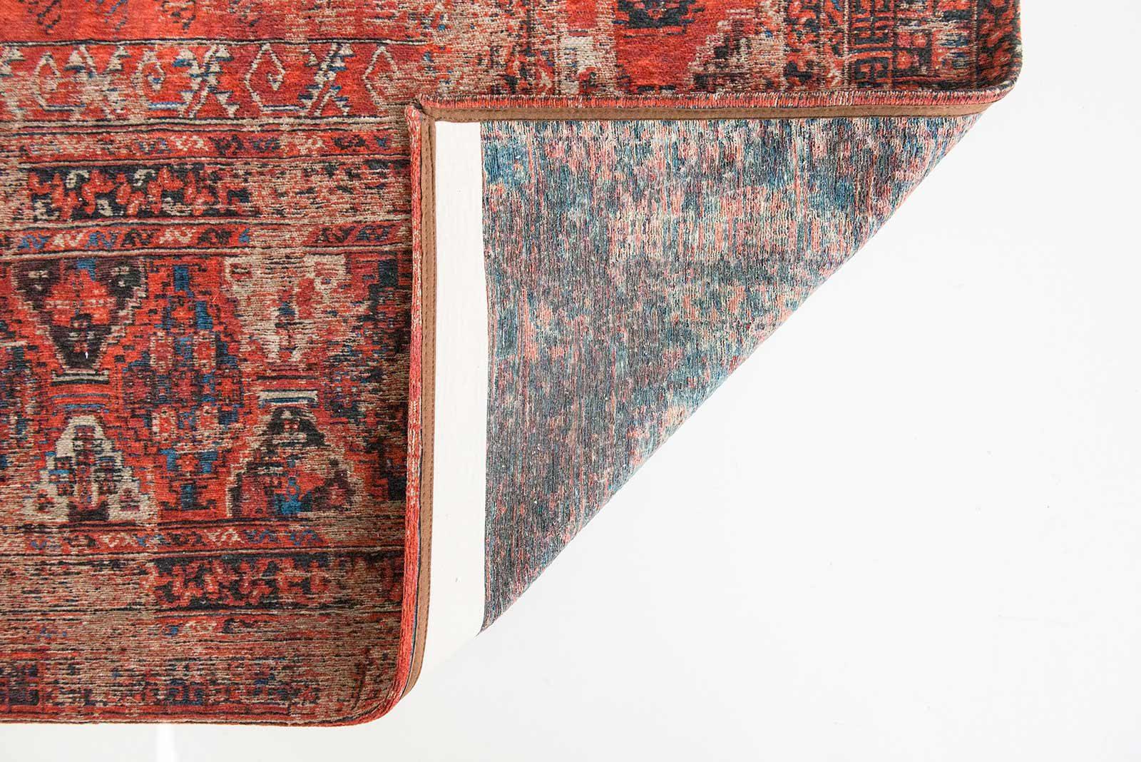 rugs Louis De Poortere LX8719 Antiquarian Antique Hadschlu 782 Red back