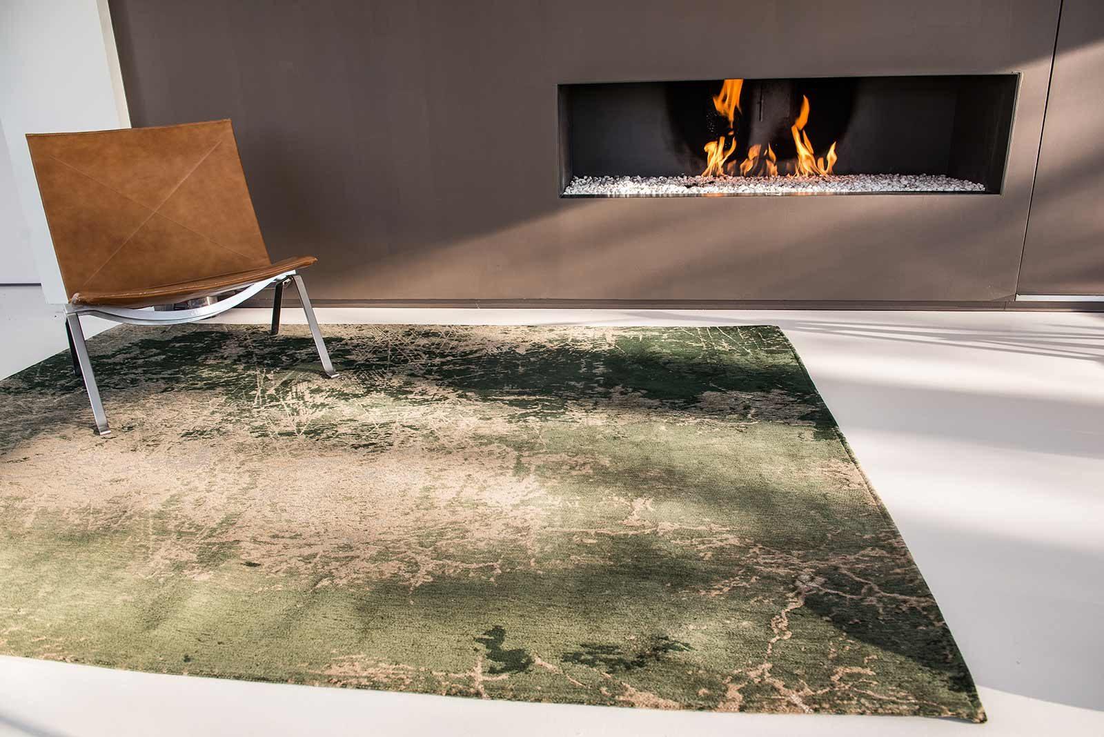 rugs Louis De Poortere LX8723 Mad Men Cracks Dark Pine interior