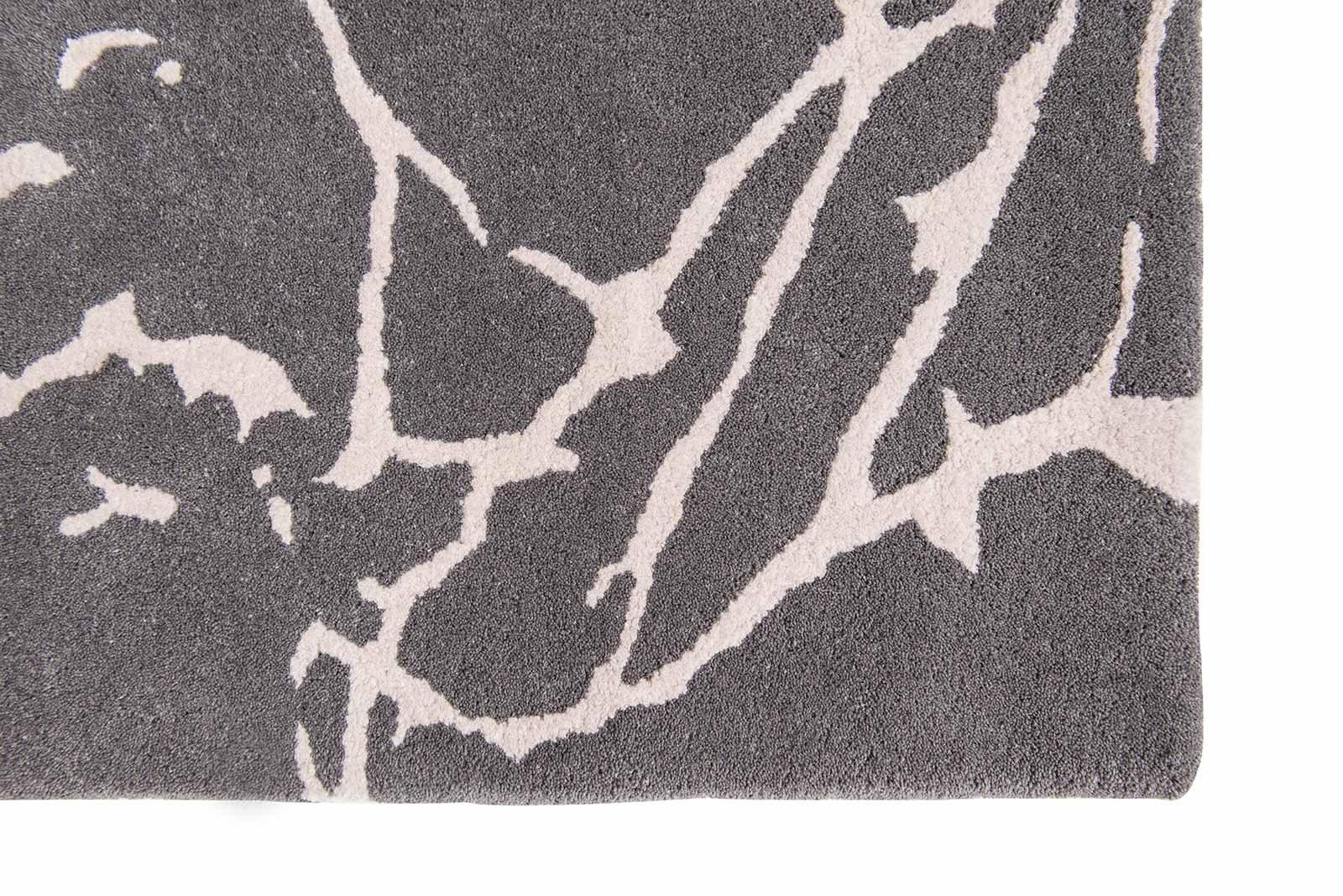Louis De Poortere rugs Romo LX 2008 Acacia Charcoal corner