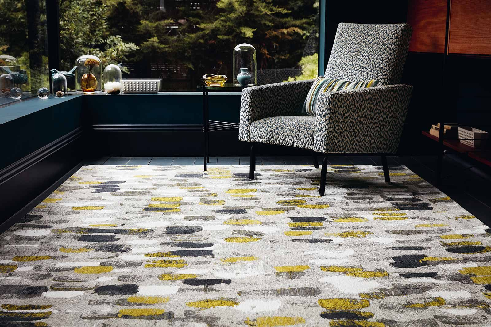 Louis De Poortere rugs Romo LX 8740 Murano Sunflower interior