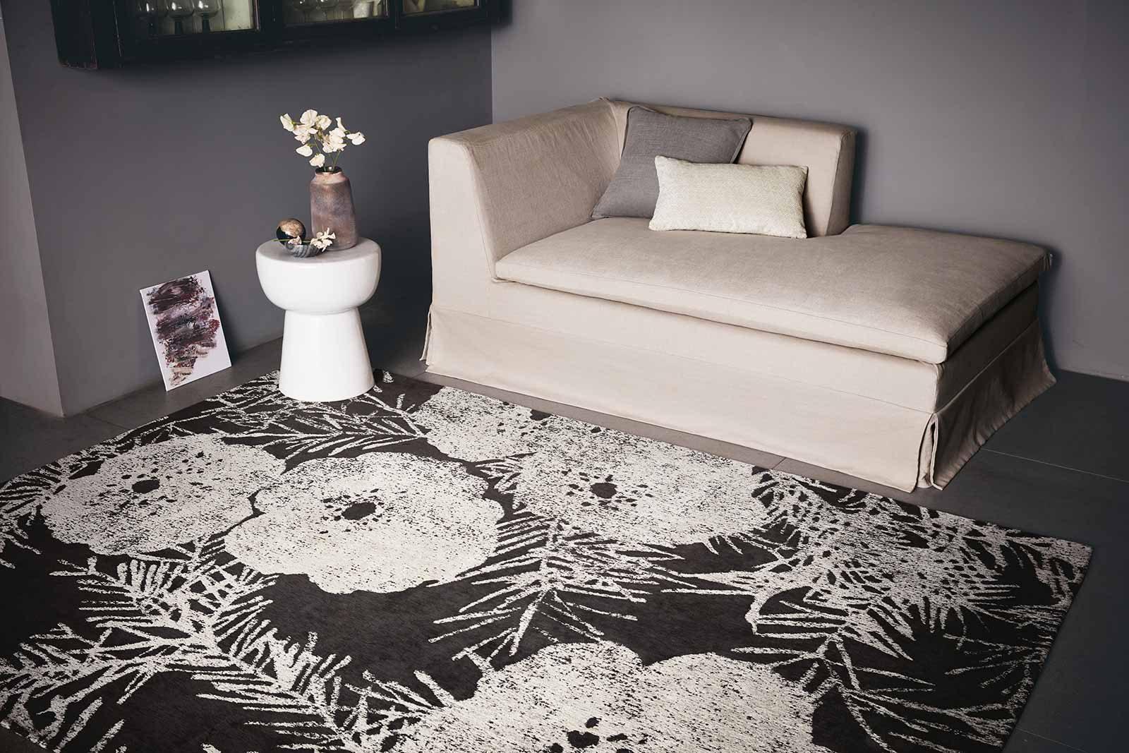 Louis De Poortere rugs Romo LX 8741 Lomasi Charcoal interior