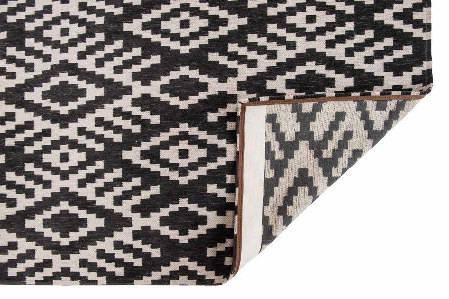Louis De Poortere rugs Romo LX 8743 Nahli Charcoal back