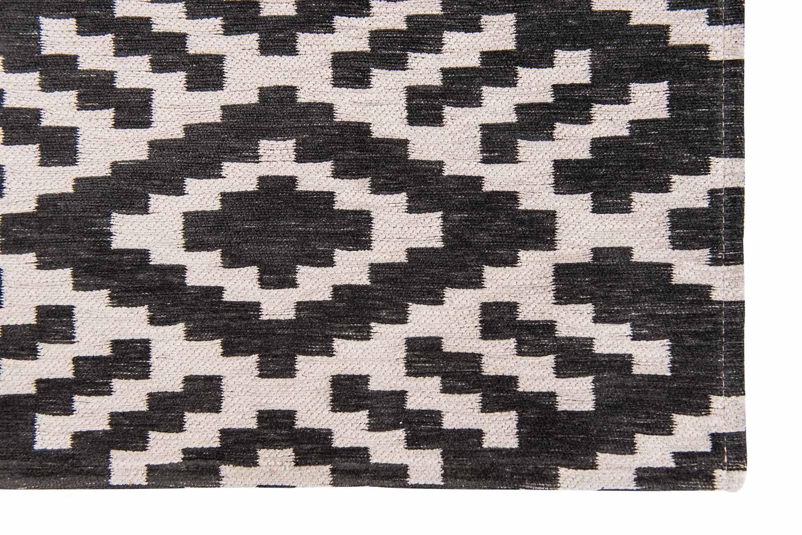 Louis De Poortere rugs Romo LX 8743 Nahli Charcoal corner