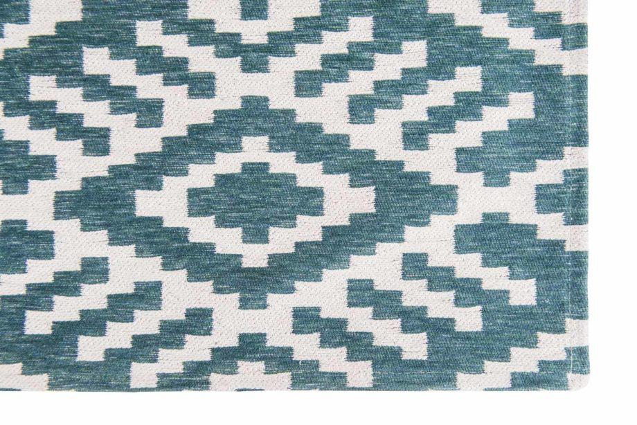 Louis De Poortere rugs Romo LX 8744 Nahli Kingfisher corner