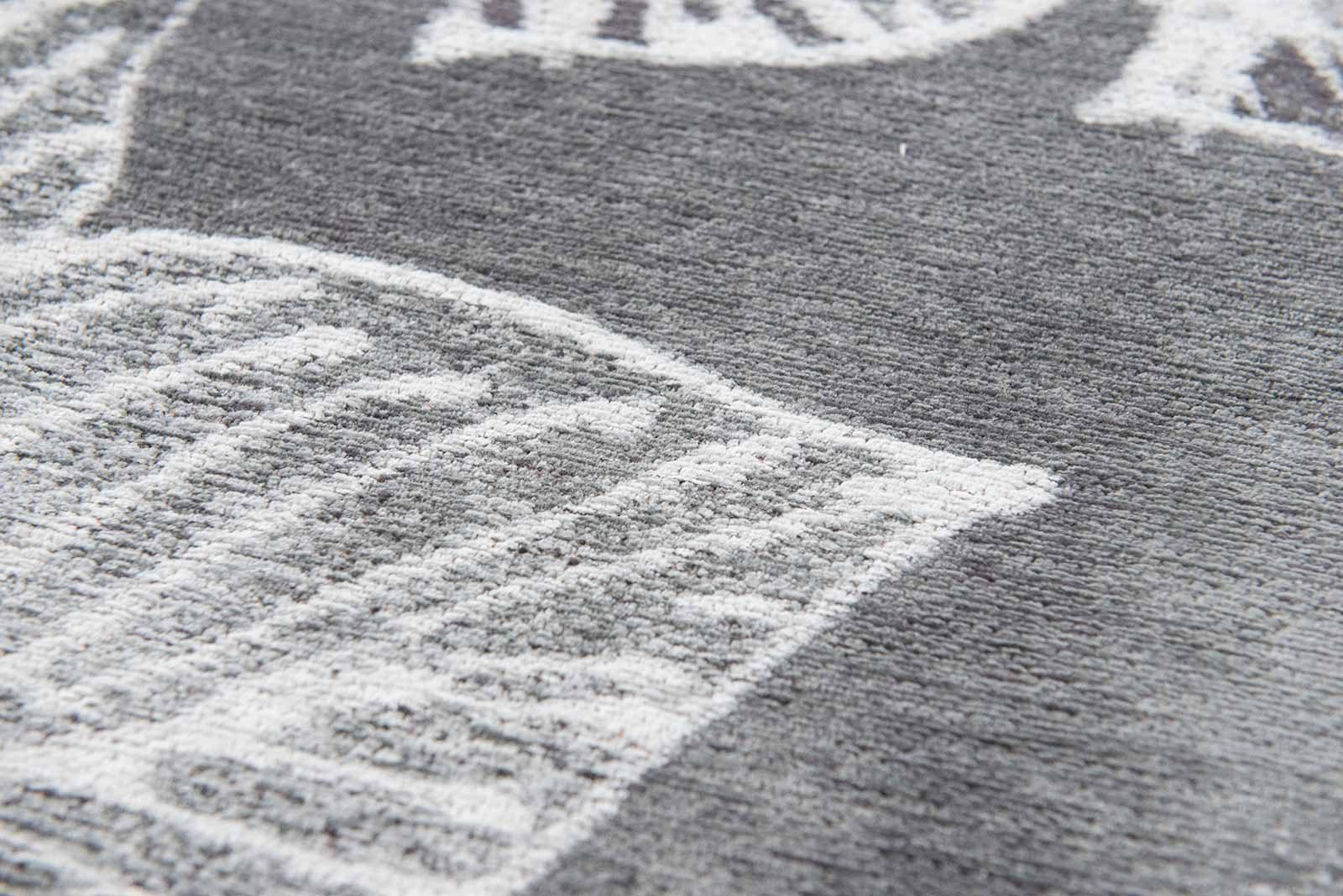 Louis De Poortere rugs Villa Nova LX 8755 Akina Carbon zoom 3