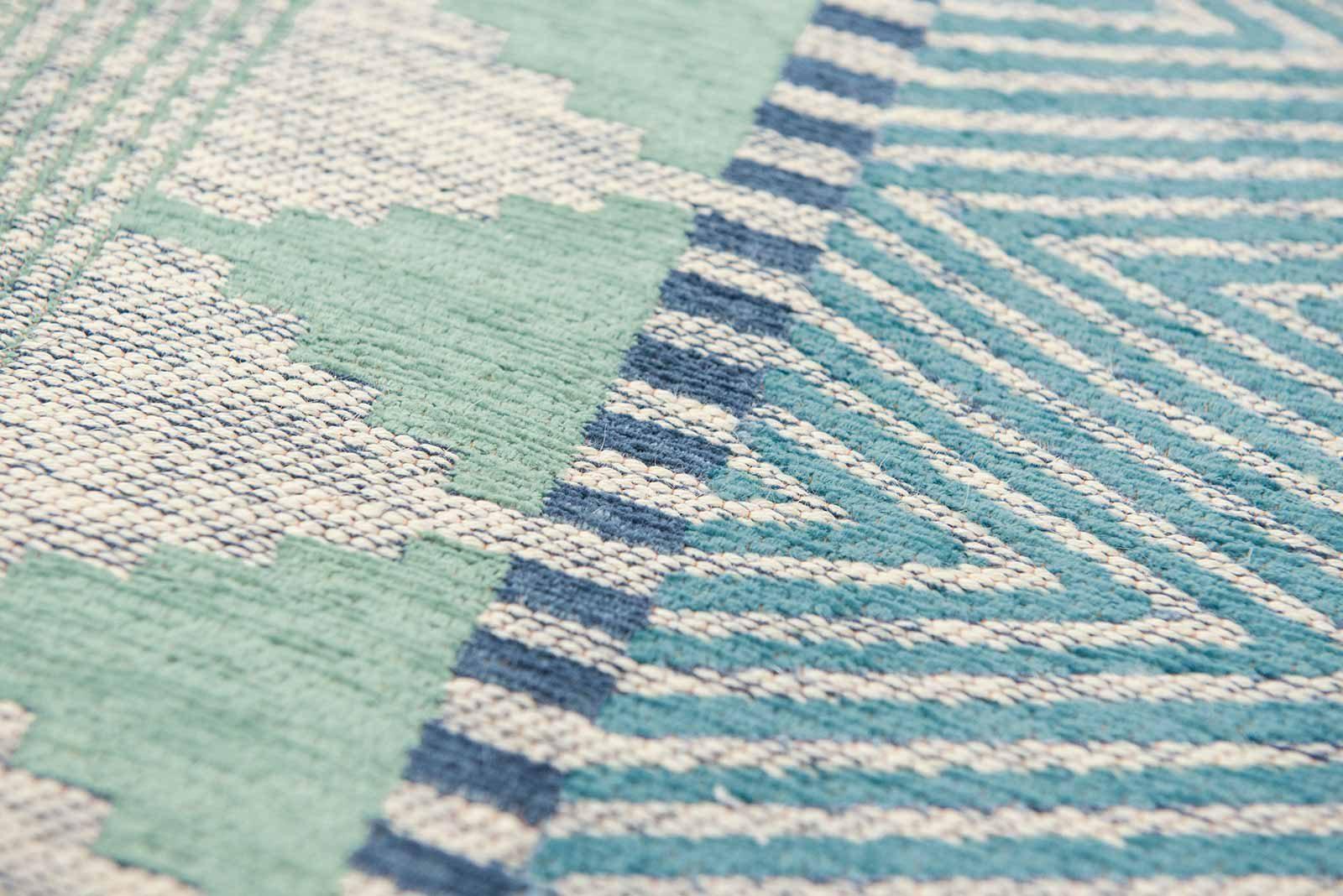 Louis De Poortere rugs Villa Nova LX 8766 Tobi Teal zoom 4