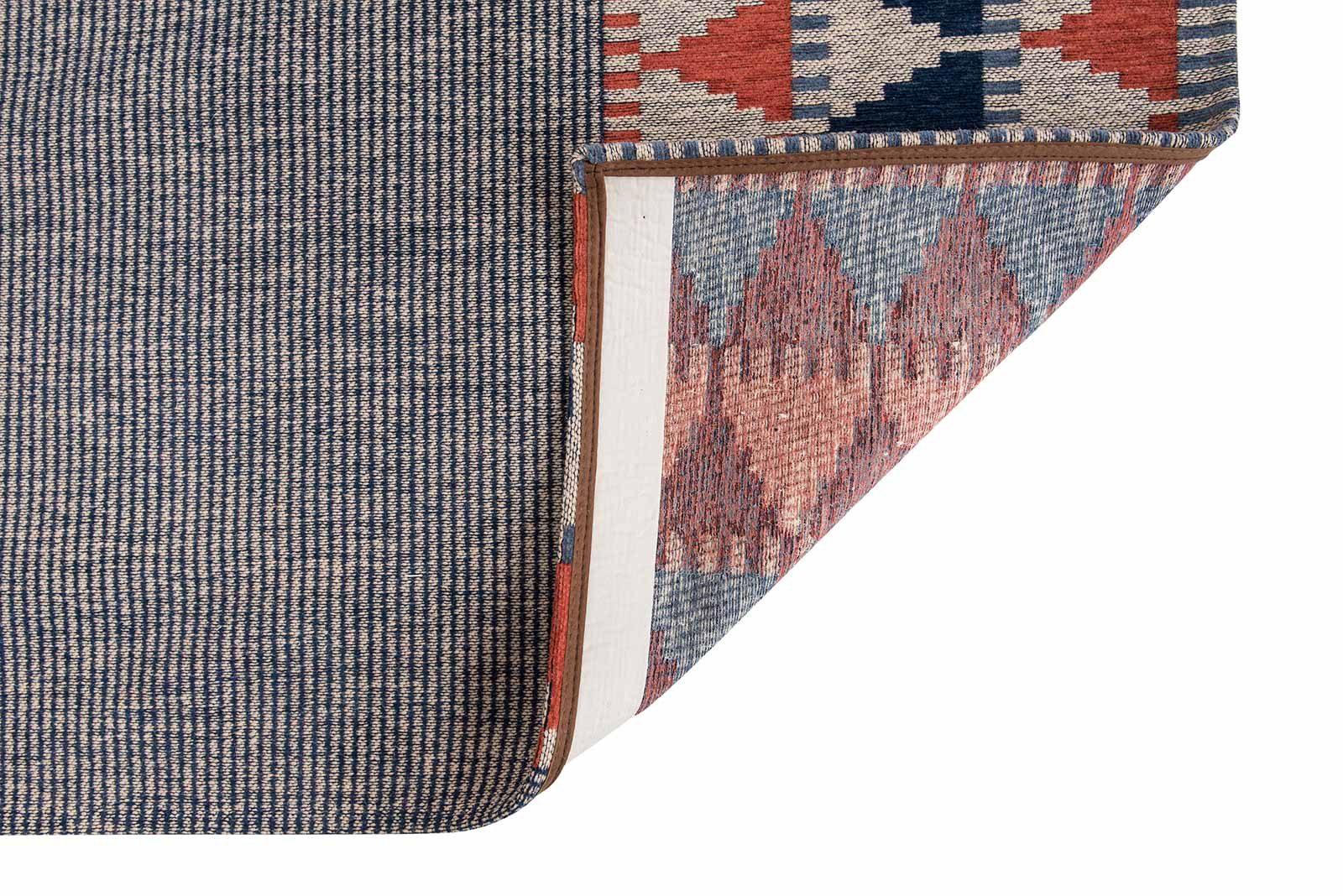 Louis De Poortere rugs Villa Nova LX 8767 Tobi Indigo Tabasco back