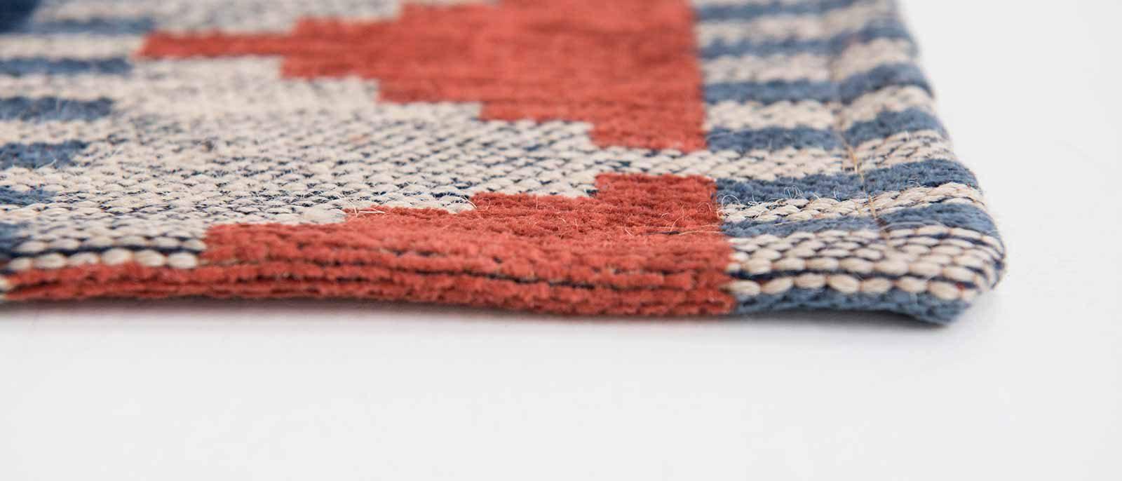Louis De Poortere rugs Villa Nova LX 8767 Tobi Indigo Tabasco side