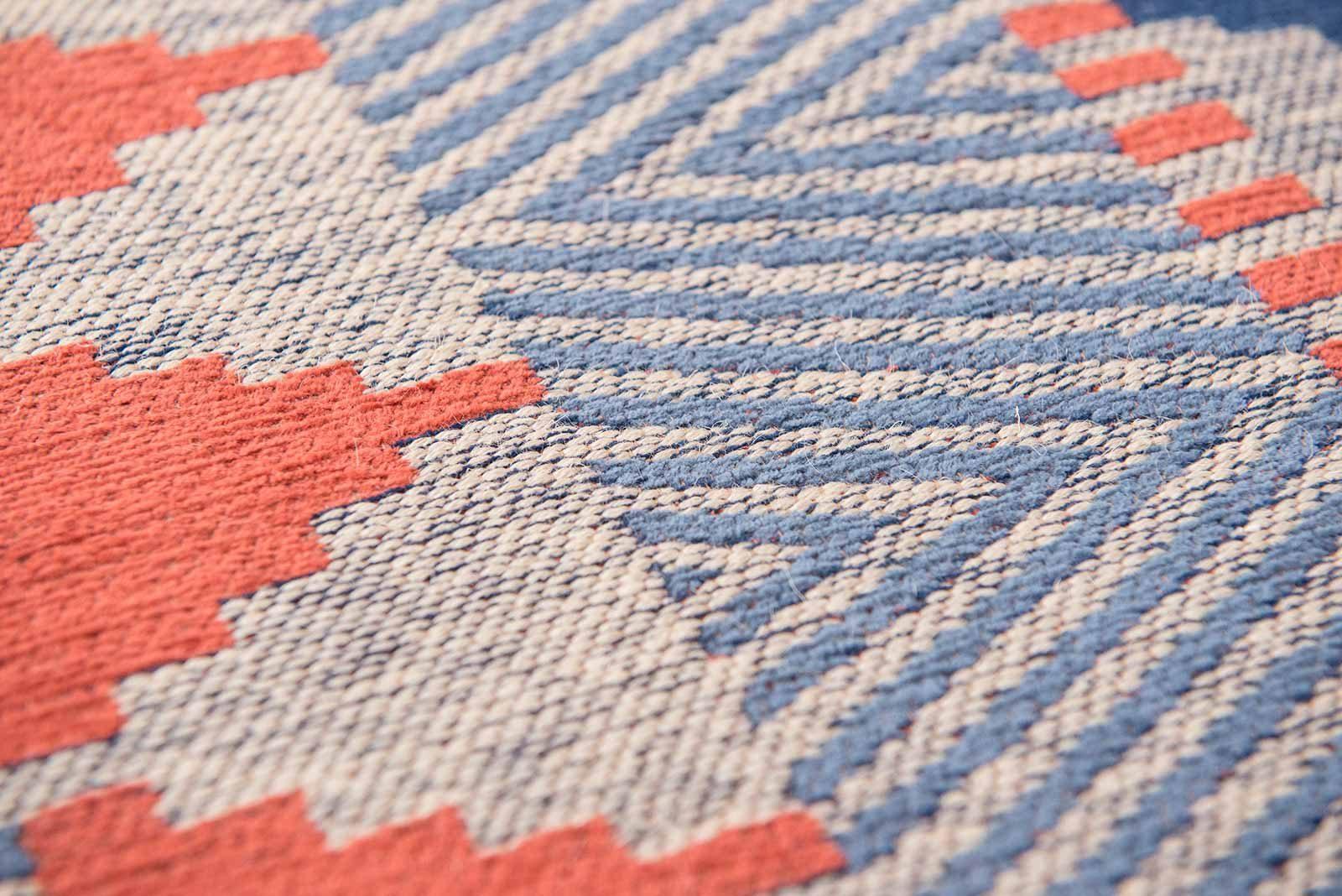 Louis De Poortere rugs Villa Nova LX 8767 Tobi Indigo Tabasco zoom