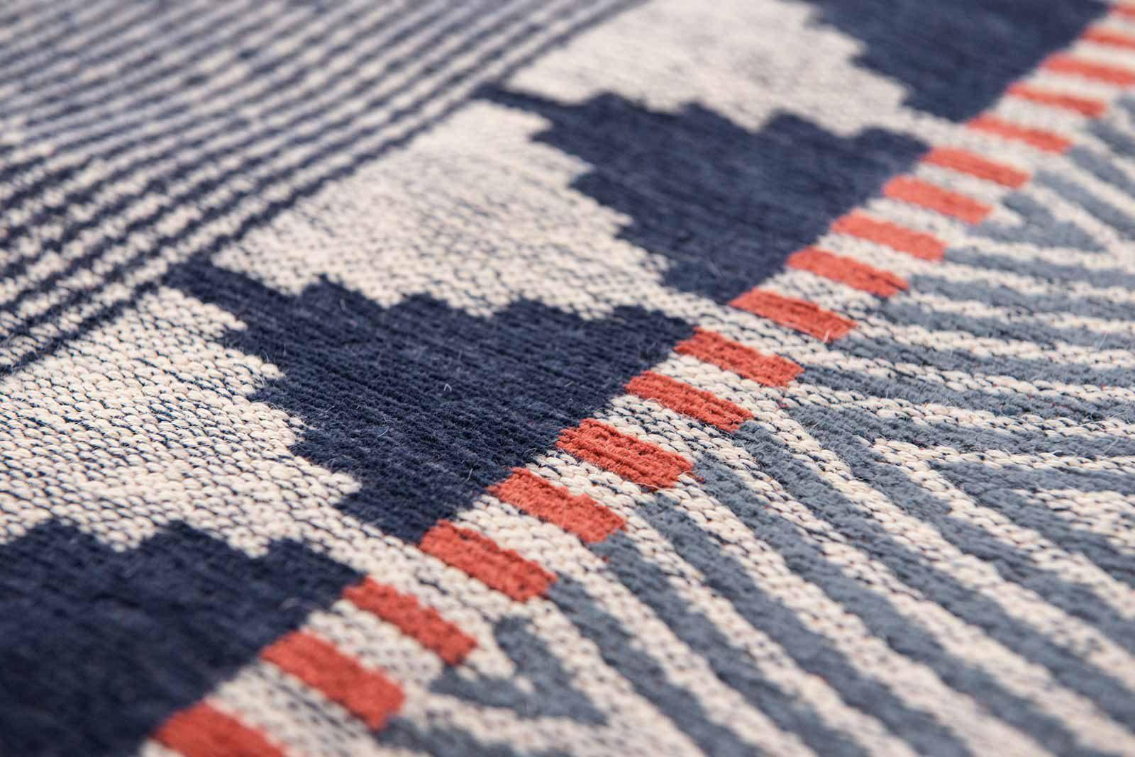 Louis De Poortere rugs Villa Nova LX 8767 Tobi Indigo Tabasco zoom 2