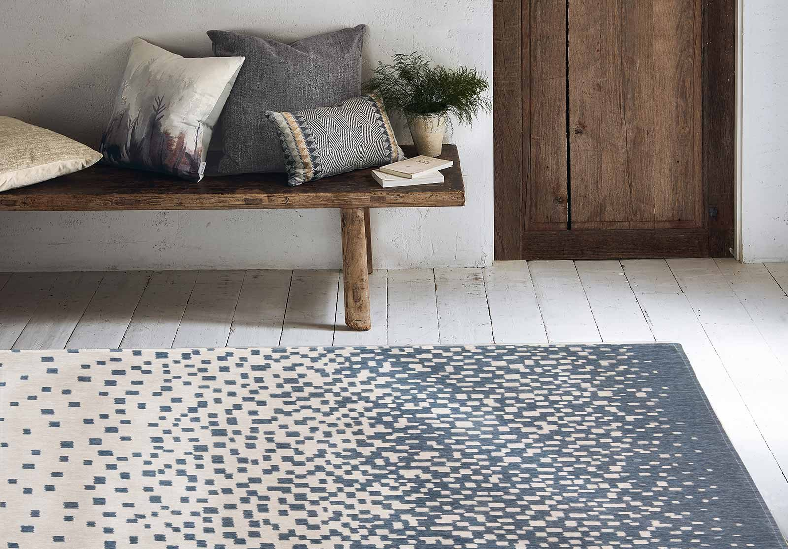 Louis De Poortere rugs Villa Nova LX 8777 Freyr Indigo interior