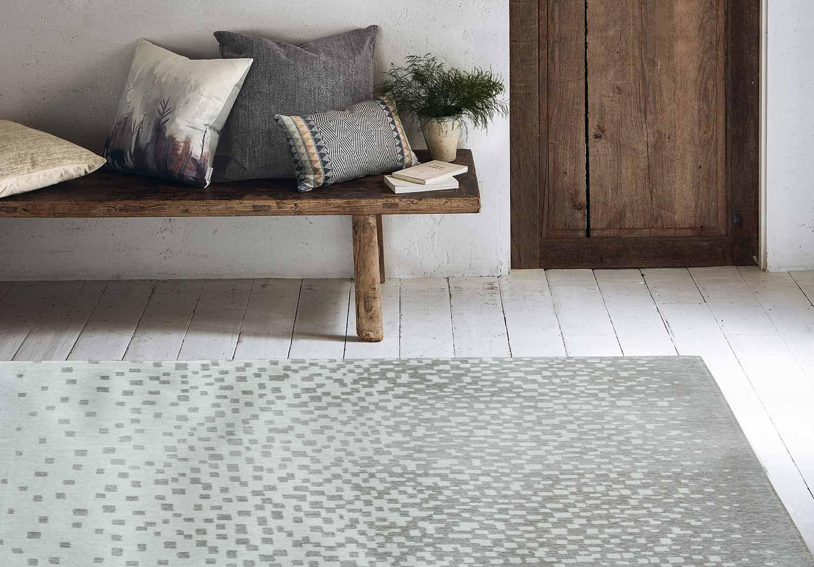 Louis De Poortere rugs Villa Nova LX 8778 Freyr Verdigris interior