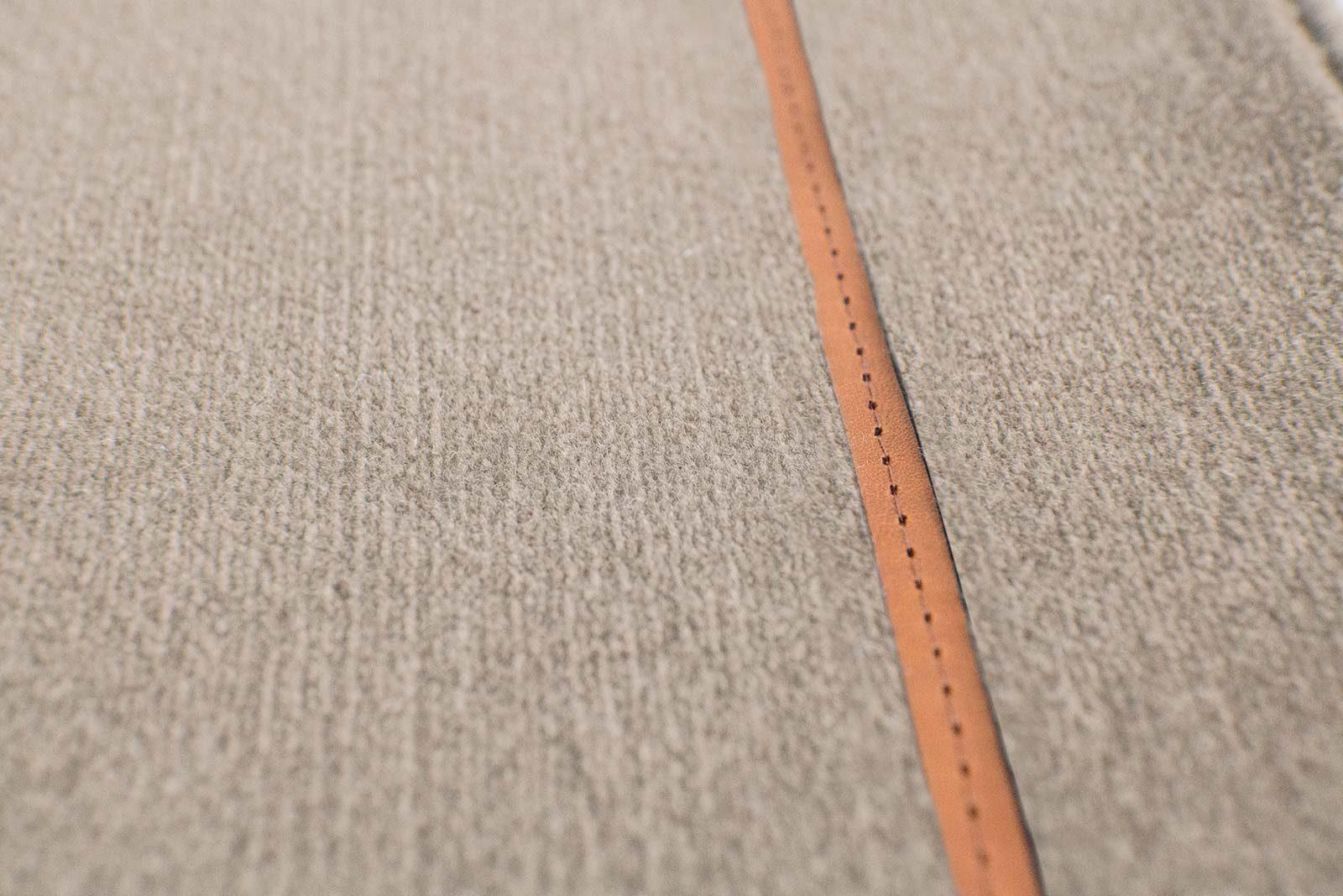 Louis De Poortere Wilton Rugs W Leather Richelieu Velours RV3 1079 detail