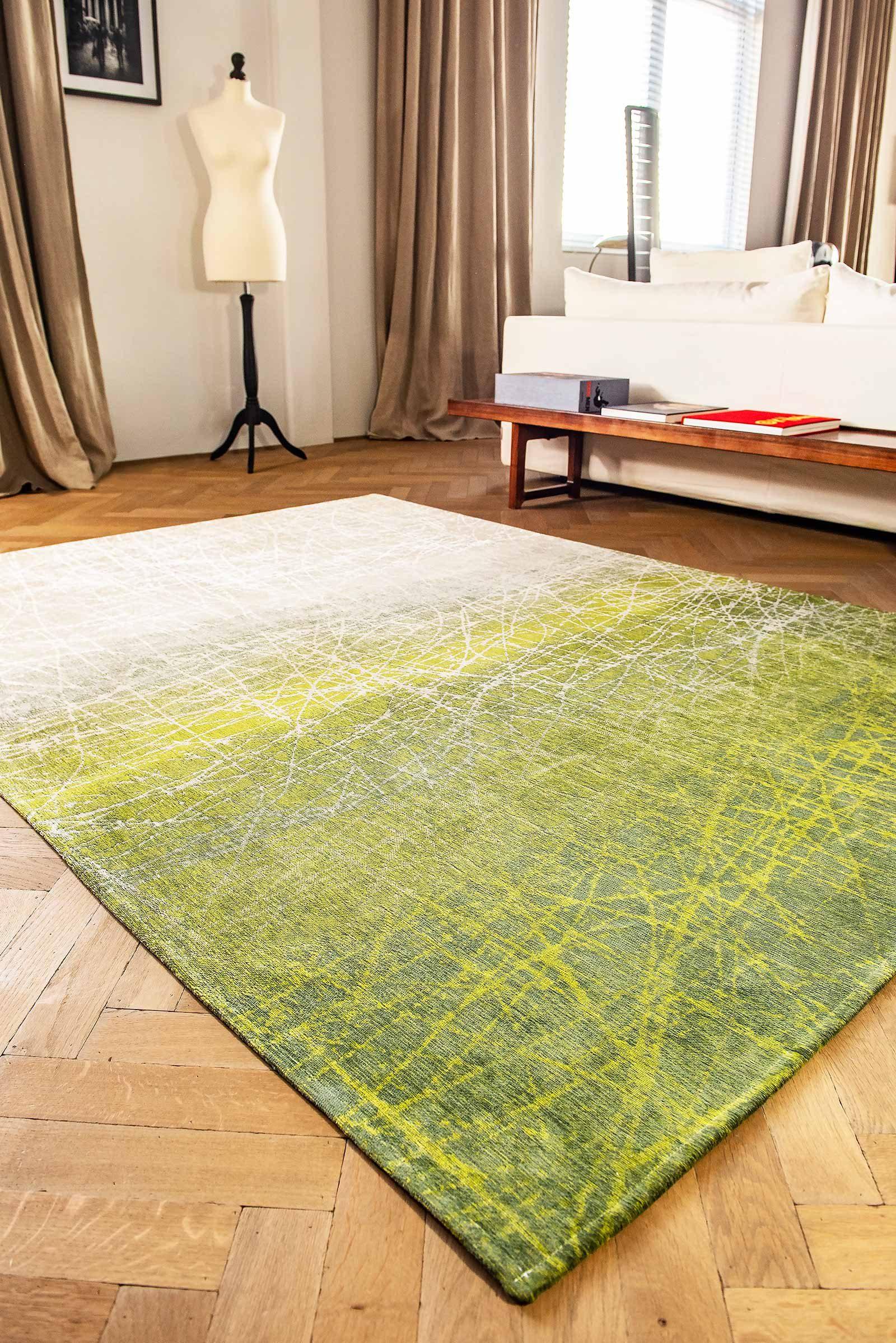 Louis De Poortere rug LX 8882 Mad Men Fahrenheit Central Park Green interior