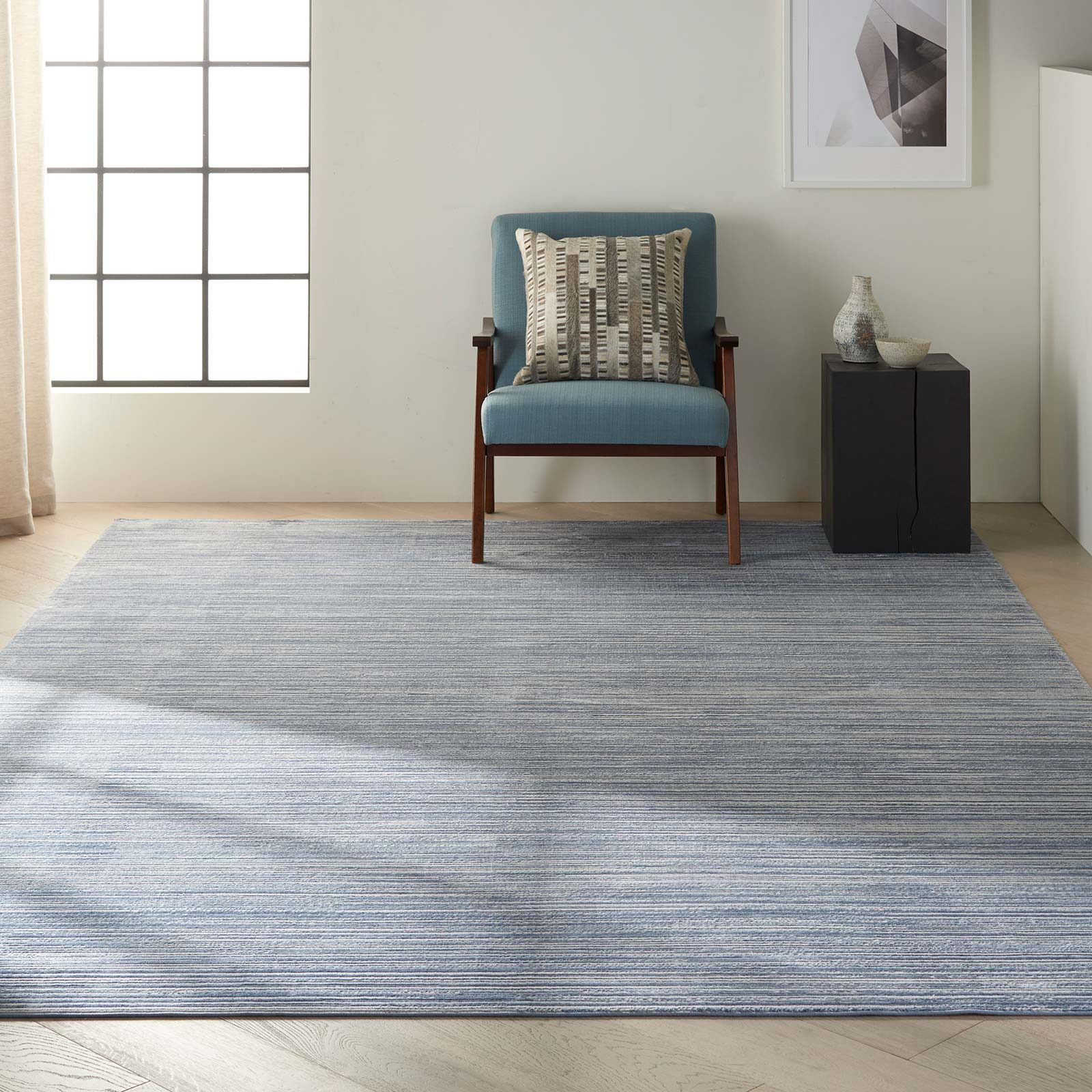 Calvin Klein rug Orlando CK850 CK851 BLUE 8x11 099446487803 interior 1