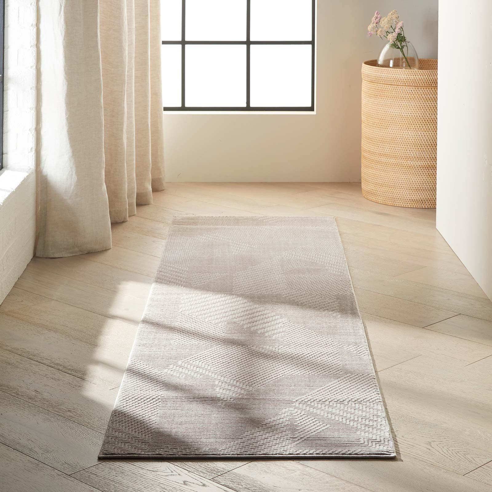Calvin Klein rug Orlando CK850 CK852 GREY BEIGE 2x8 099446488213 interior 1