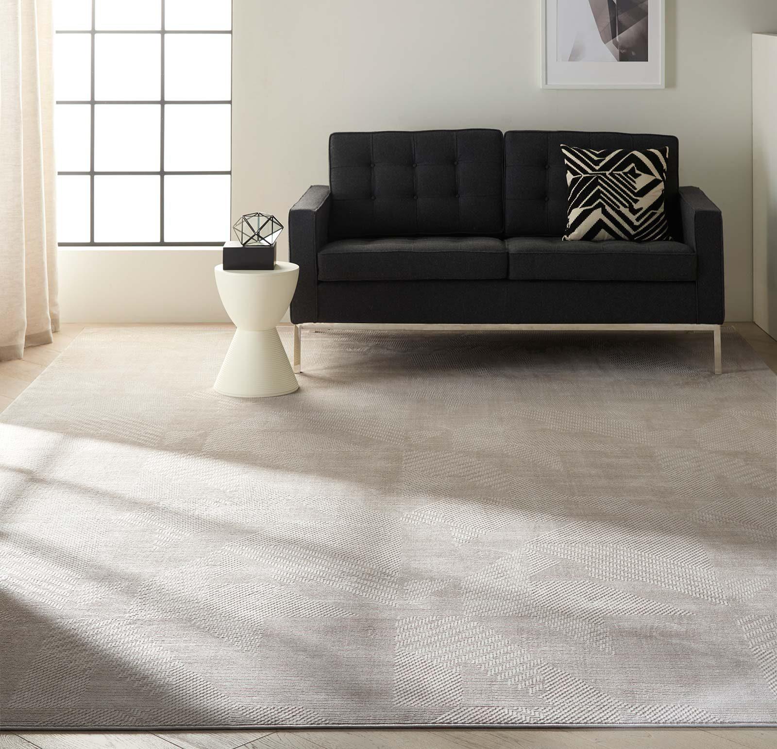 Calvin Klein rug Orlando CK850 CK852 GREY BEIGE 8x11 099446488275 interior 1