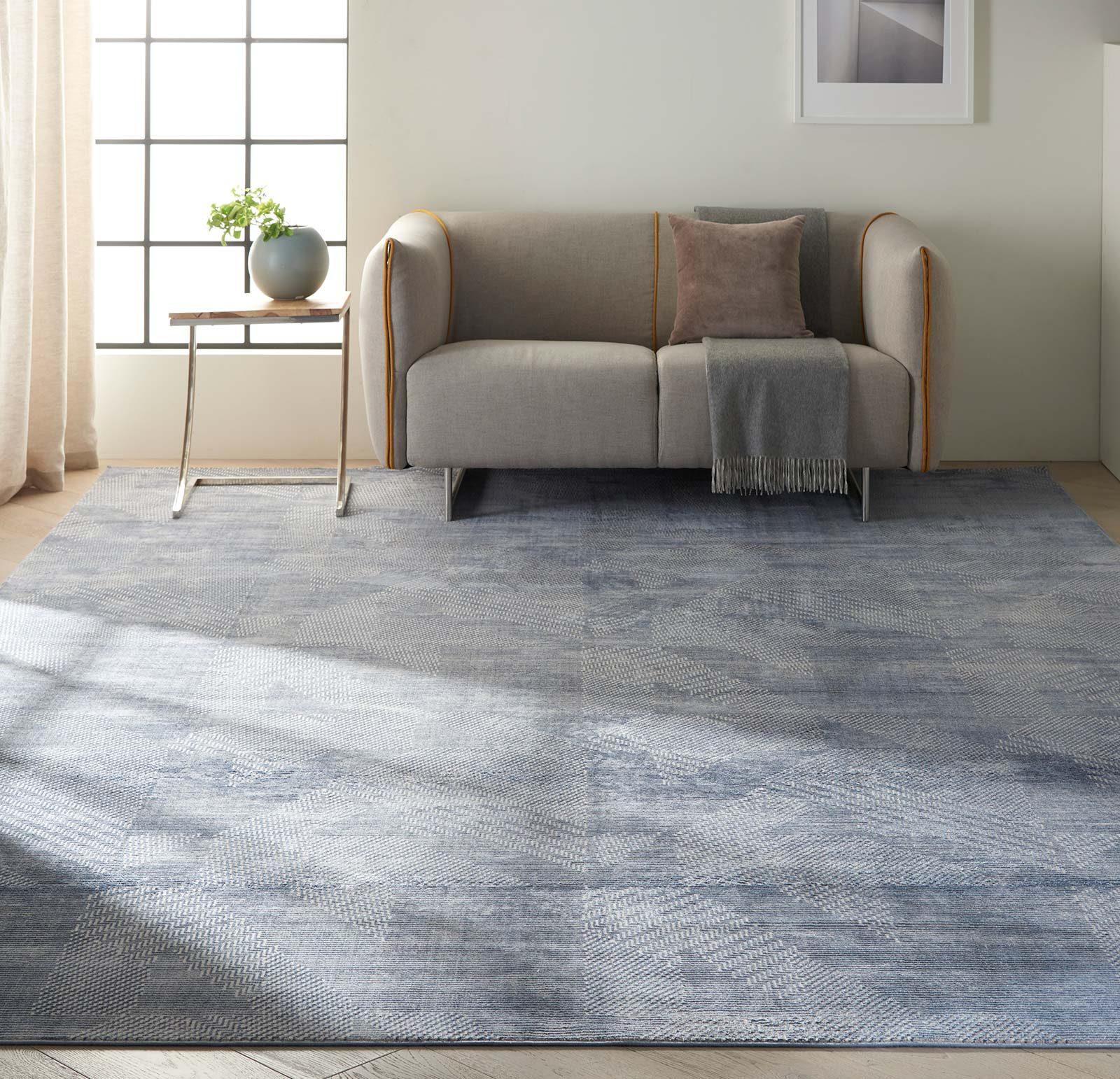 Calvin Klein rug Orlando CK850 CK852 GREY BLUE 8x11 099446488190 interior 1
