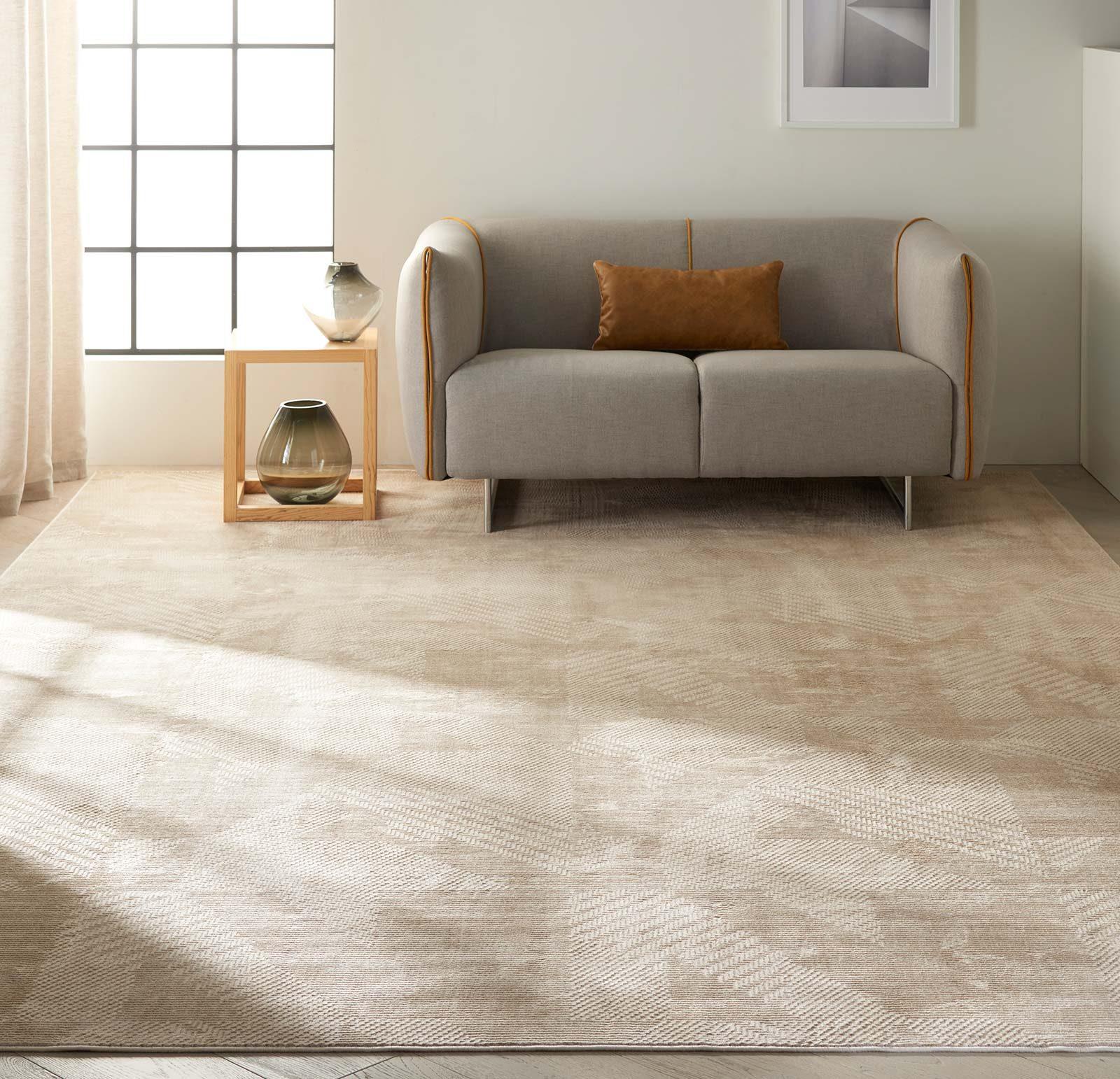 Calvin Klein rug Orlando CK850 CK852 GREY SAFFRON 8x11 099446488107 interior 1