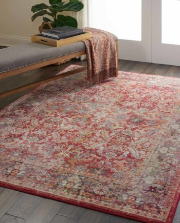 Nourison rug Ankara Global ANR02 RED 5X7 099446456472 interior 3 C