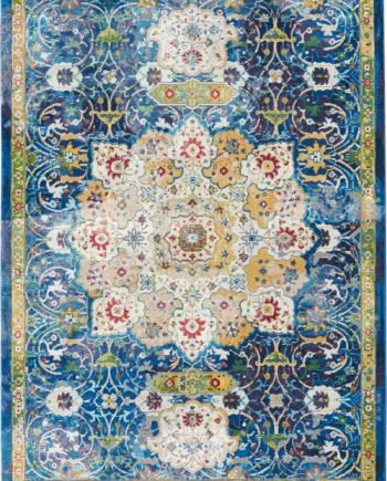 Nourison rug Ankara Global ANR03 BLUE 5x8 099446456595 main