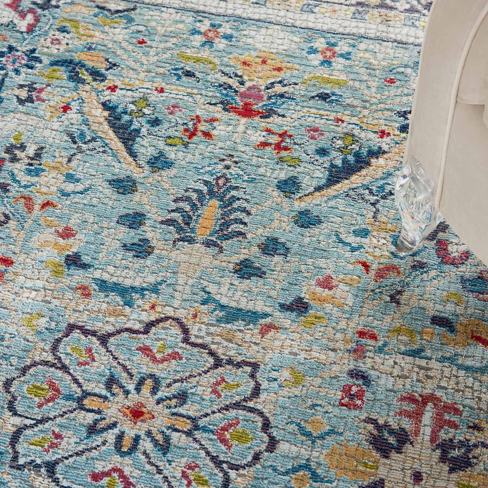 Nourison rug Ankara Global ANR14 TEAL MULTI 5X8 099446498441 interior 2 C