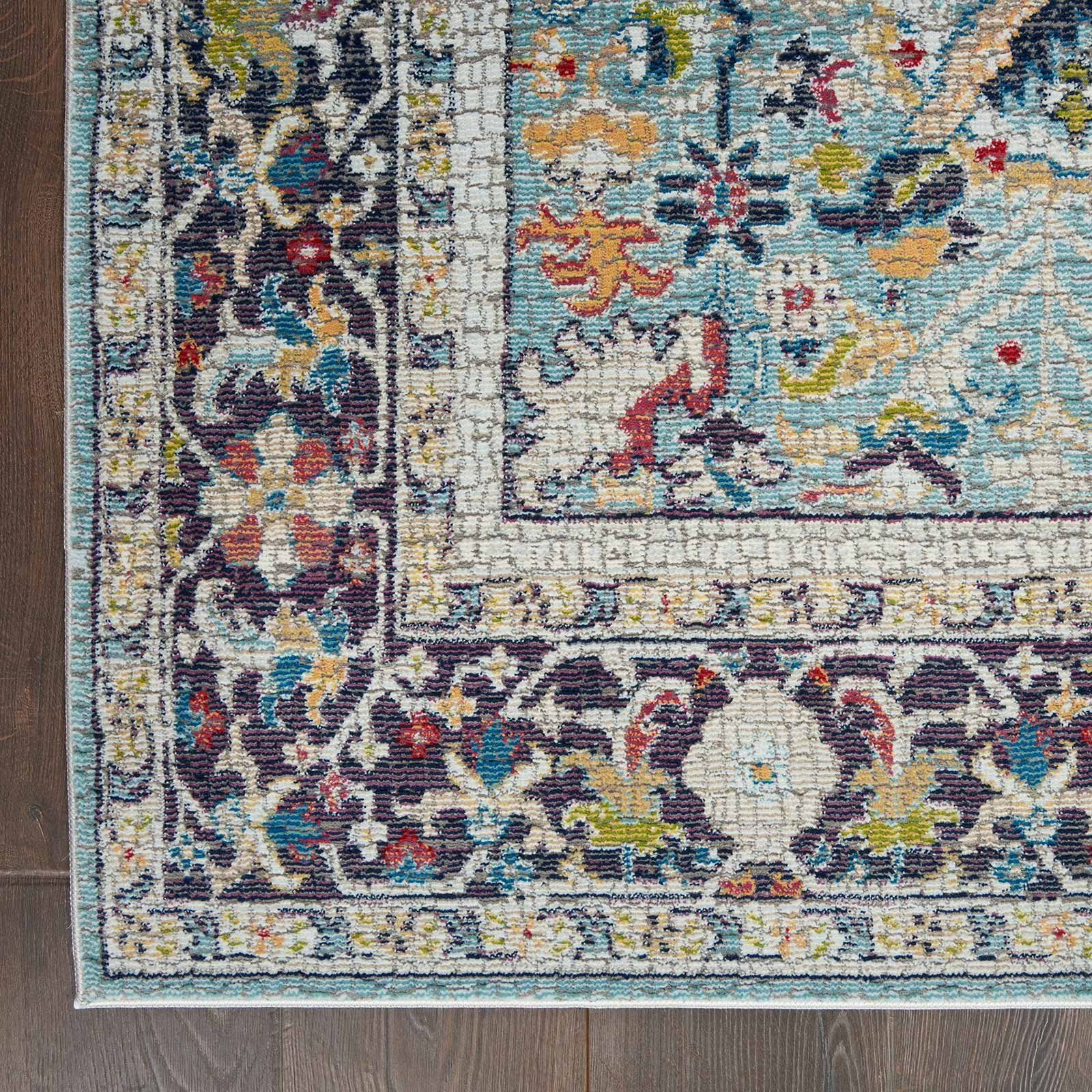 Nourison rug Ankara Global ANR14 TEAL MULTI 5x8 099446498441 CR C