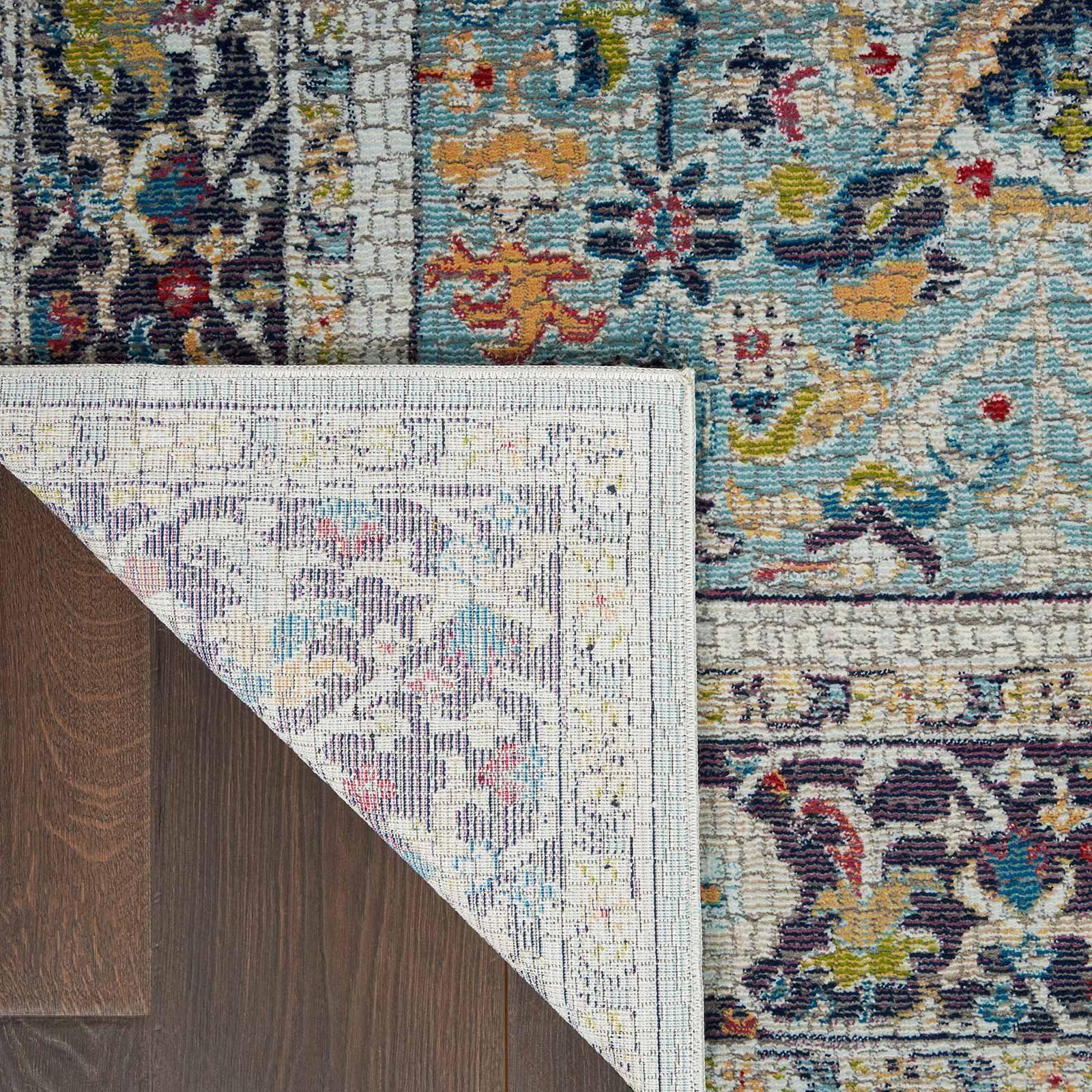 Nourison rug Ankara Global ANR14 TEAL MULTI 5x8 099446498441 CRB