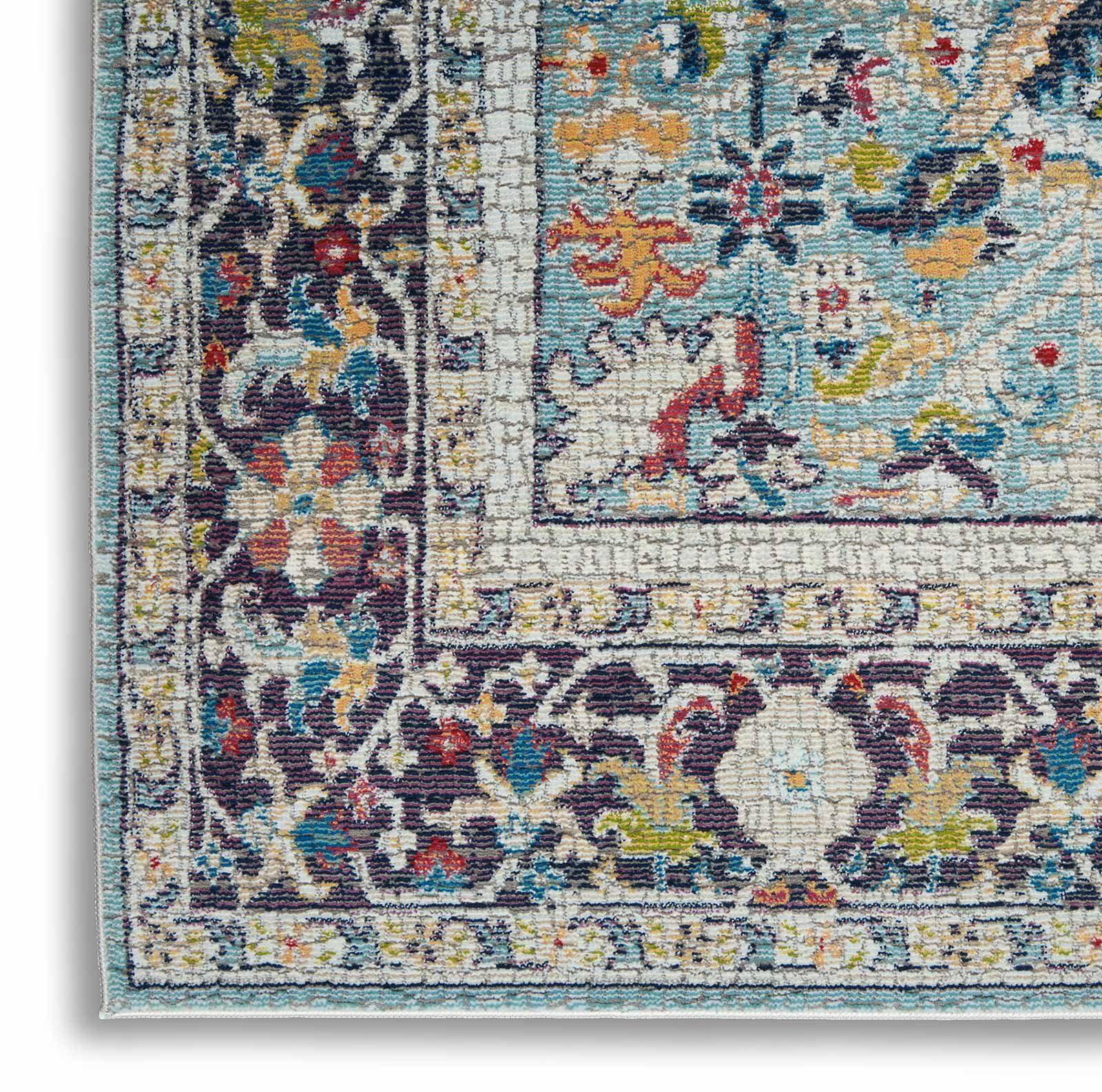 Nourison rug Ankara Global ANR14 TEAL MULTI 5x8 099446498441 CRW C