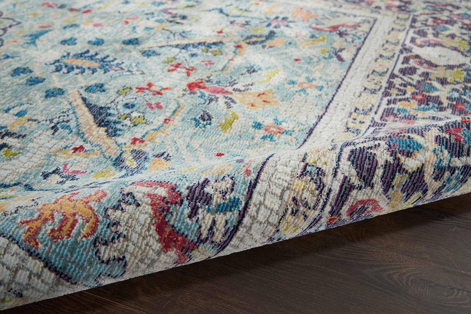 Nourison rug Ankara Global ANR14 TEAL MULTI 5x8 099446498441 TX01 C