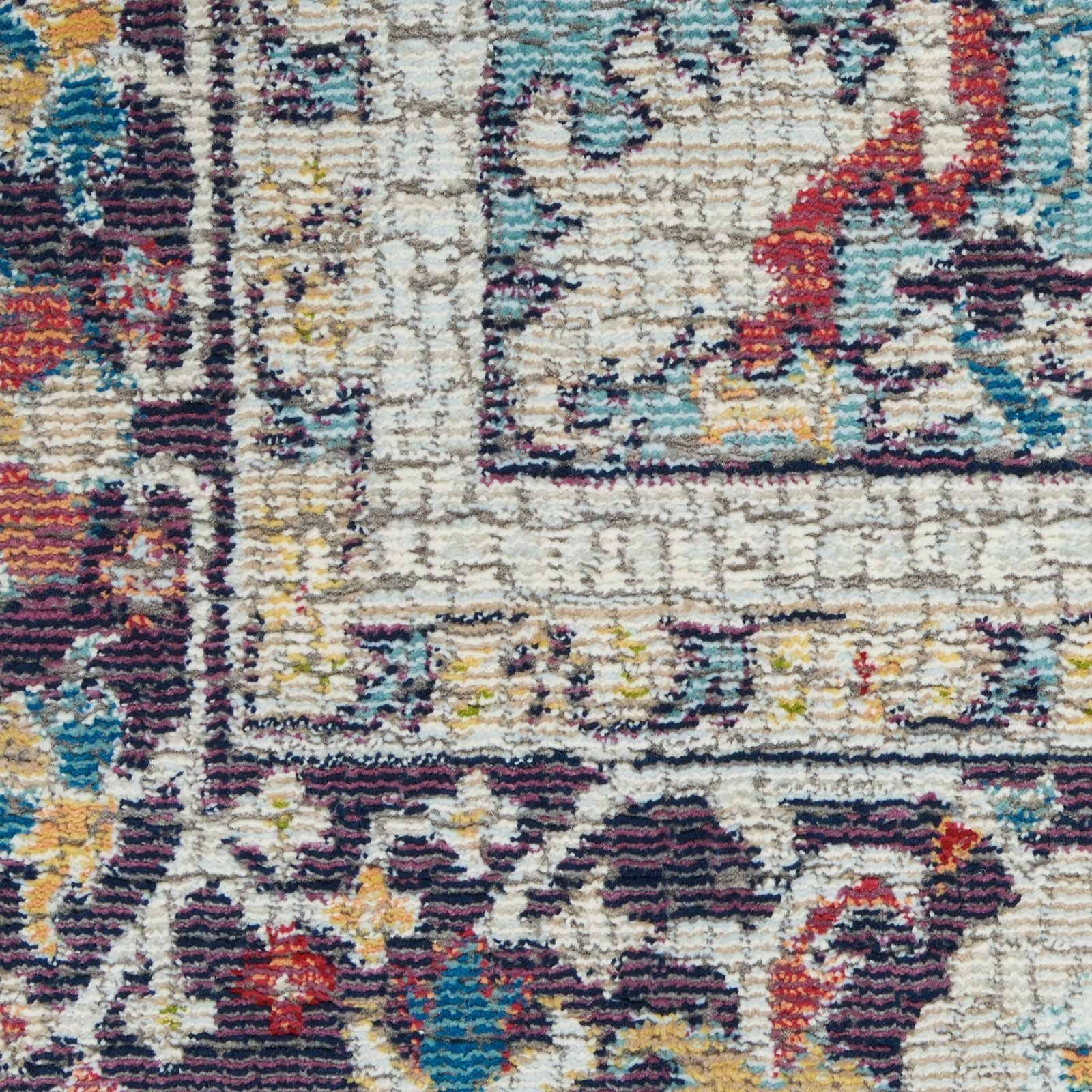 Nourison rug Ankara Global ANR14 TEAL MULTI 5x8 099446498441 swatch C