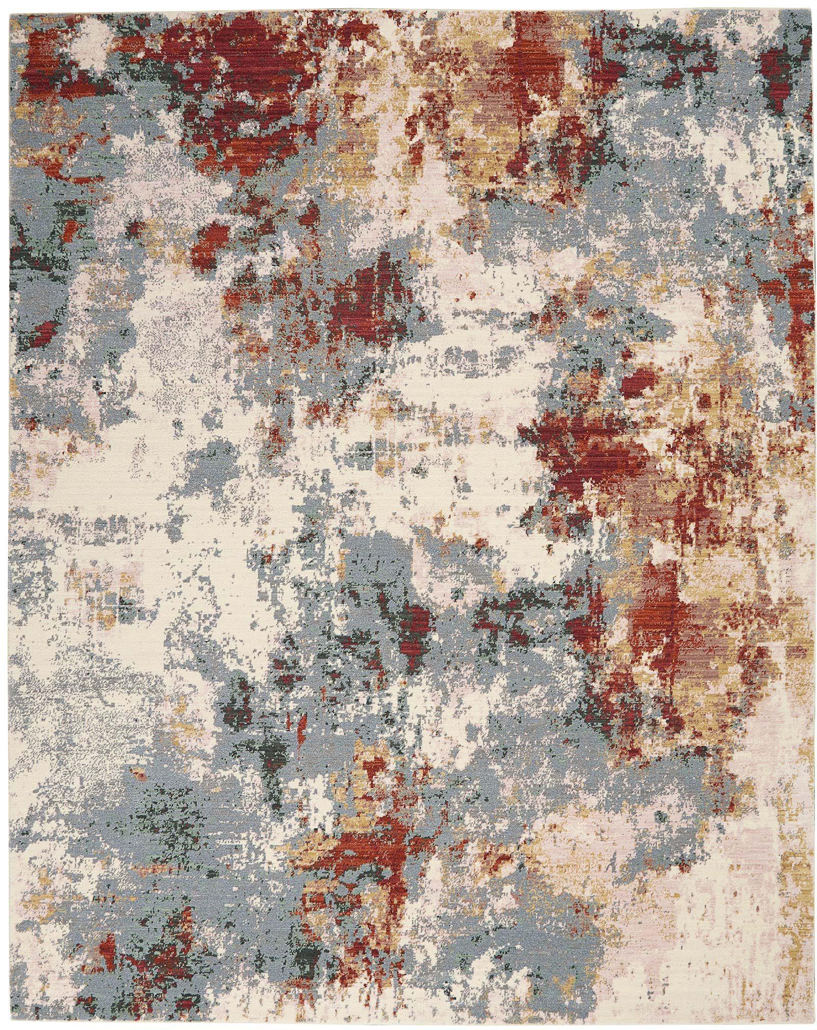 Nourison rug Artworks ATW01 SLTMT SLATE MULTI 8X10 099446709103 flat C