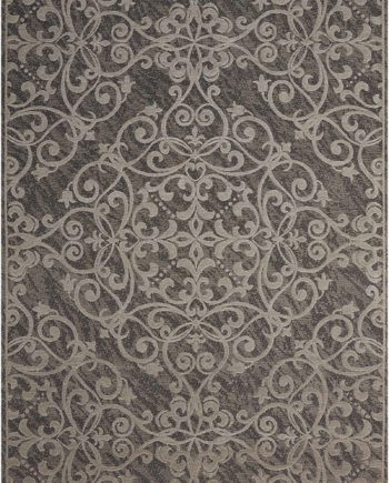 Nourison rug Damask DAS01 GREY 5x7 099446341310 main