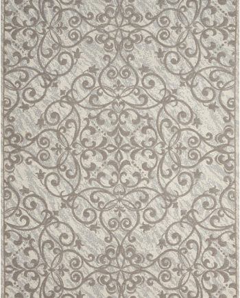 Nourison rug Damask DAS01 IVGRY 5x7 099446341280 main