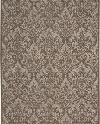 Nourison rug Damask DAS02 GREY 5x7 099446341426 main