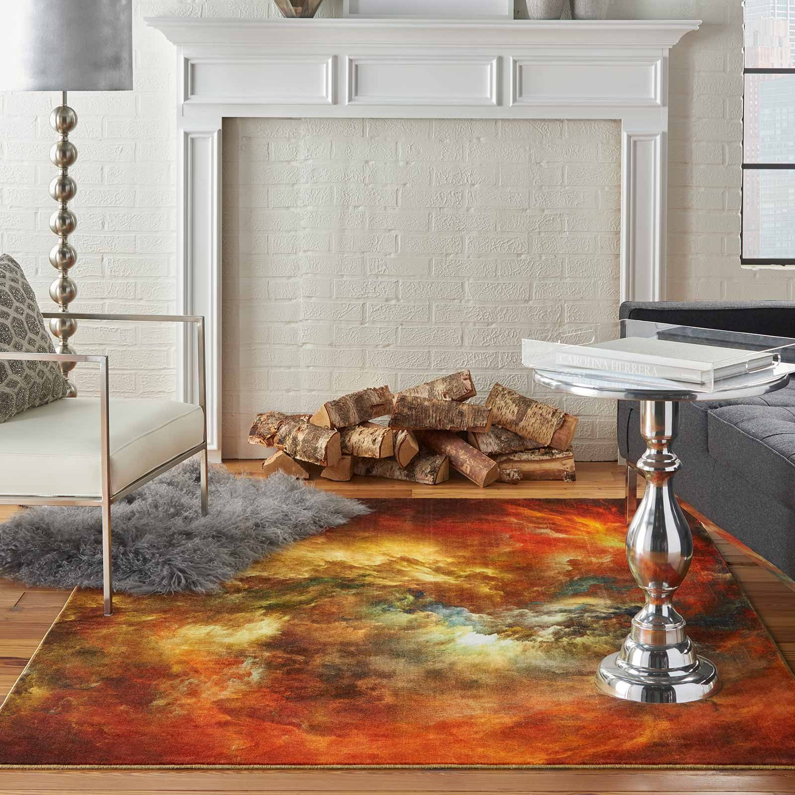 Nourison rug LREVE LER07 REDMT RED MULTI 5X7 099446494818 interior 1 C